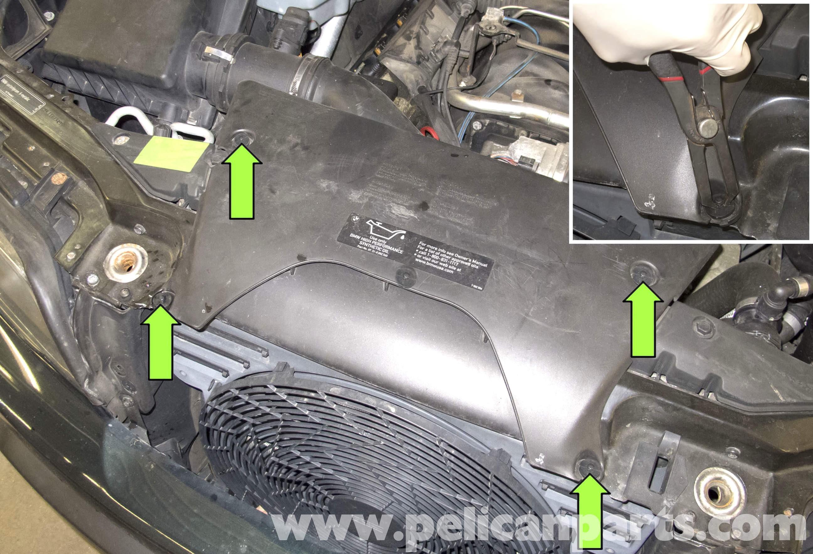 Car Radiator Diagram Bmw X5 Engine Cooling Fan Replacement E53 2000 2006 Of Car Radiator Diagram