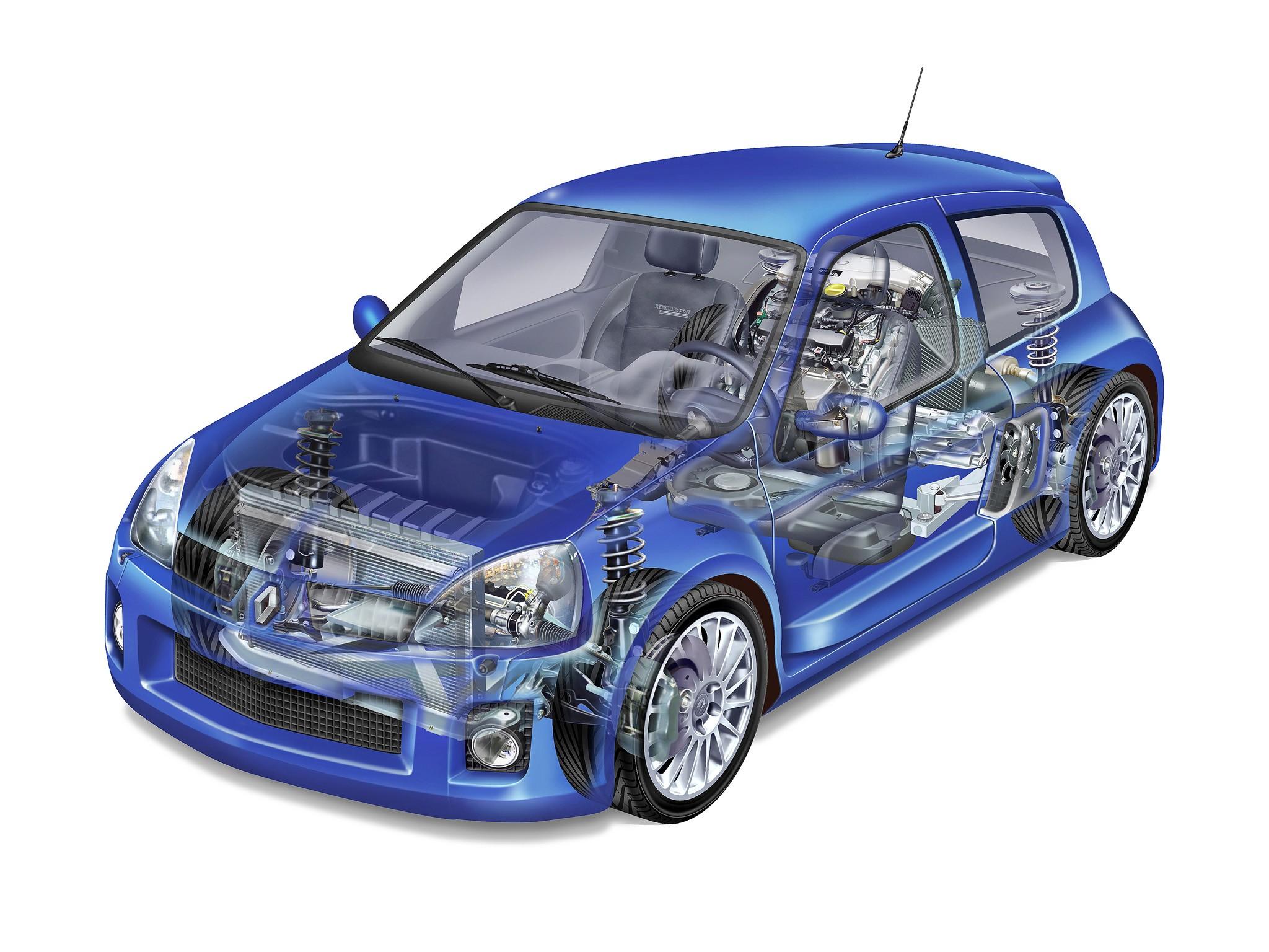 Car Skeleton Diagram 2003 2005 Renault Clio V6 Illustration Unattributed Of Car Skeleton Diagram