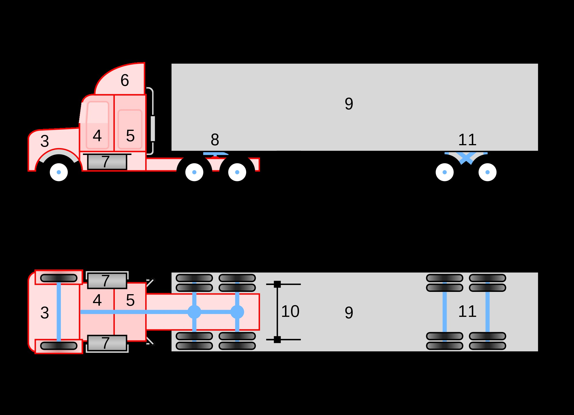 Car Underside Diagram File Conventional 18 Wheeler Truck Diagramg Wikimedia Mons Of Car Underside Diagram