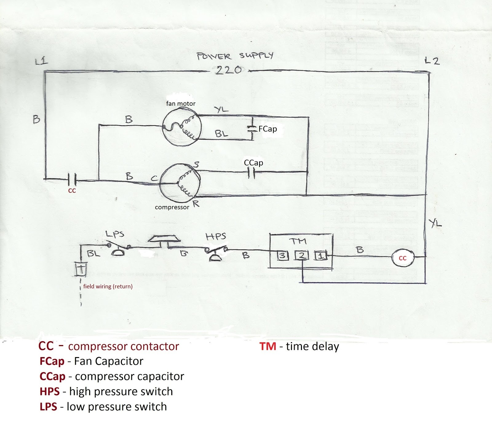 Carrier Air Conditioner Wiring Diagram Refrigeration and Air