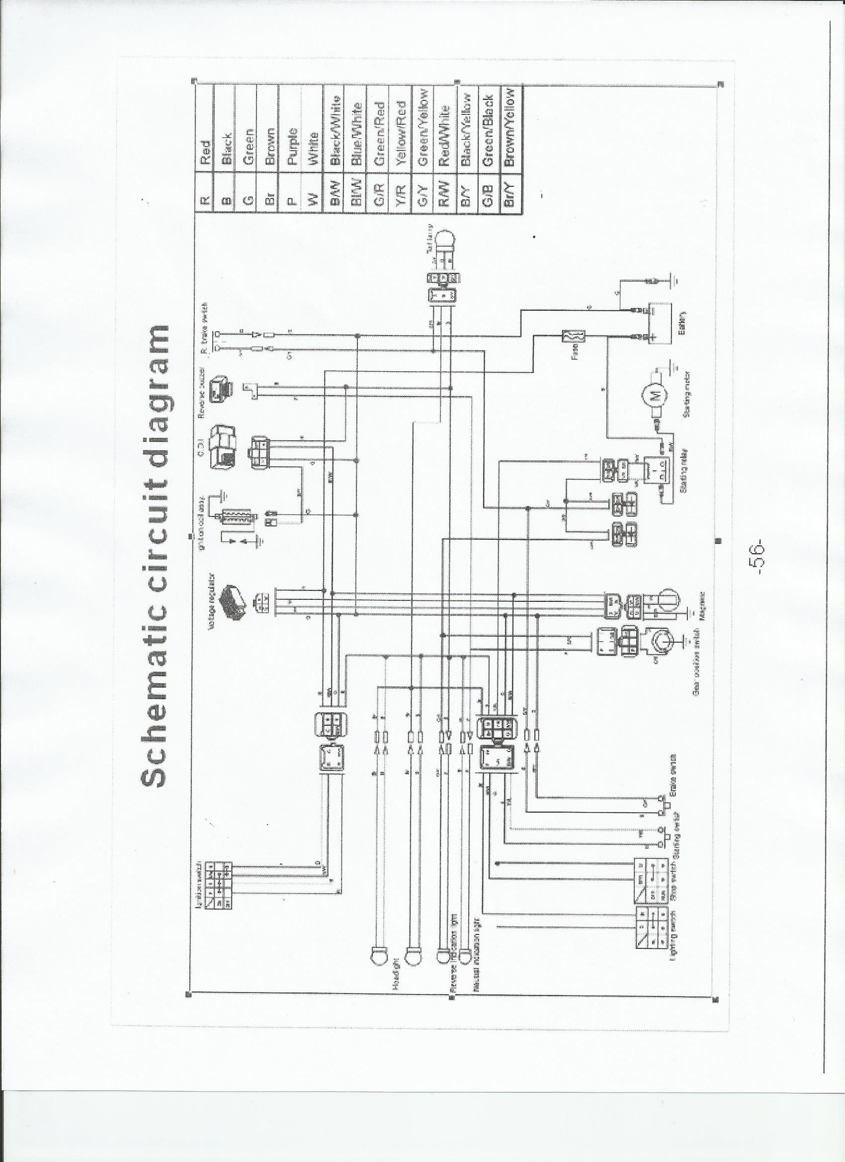 chinese 4 wheeler wiring diagram chinese atv wiring