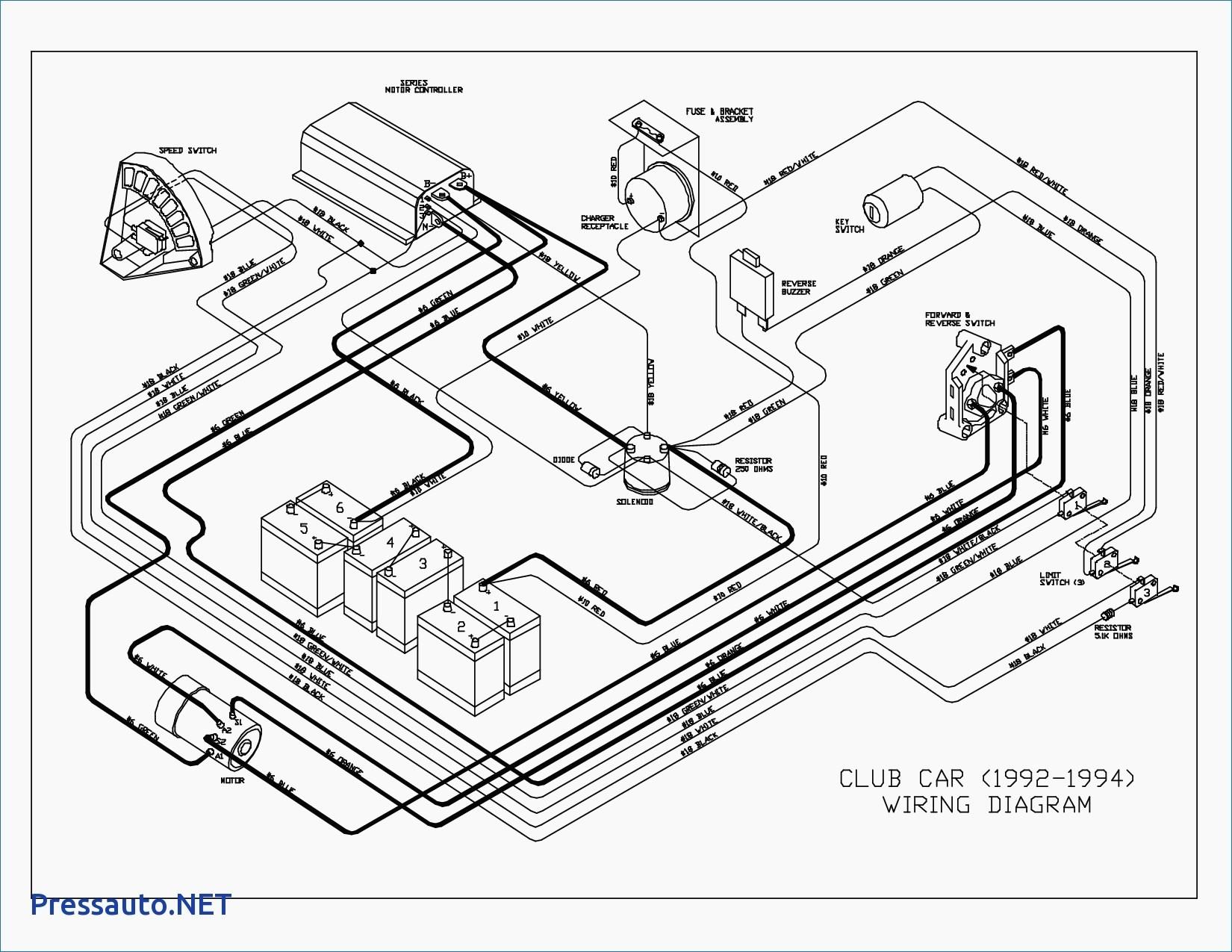 Club Car Electric Golf Cart Wiring Diagram Wiring Diagram Club Car 48 Volt  with Golf Cart