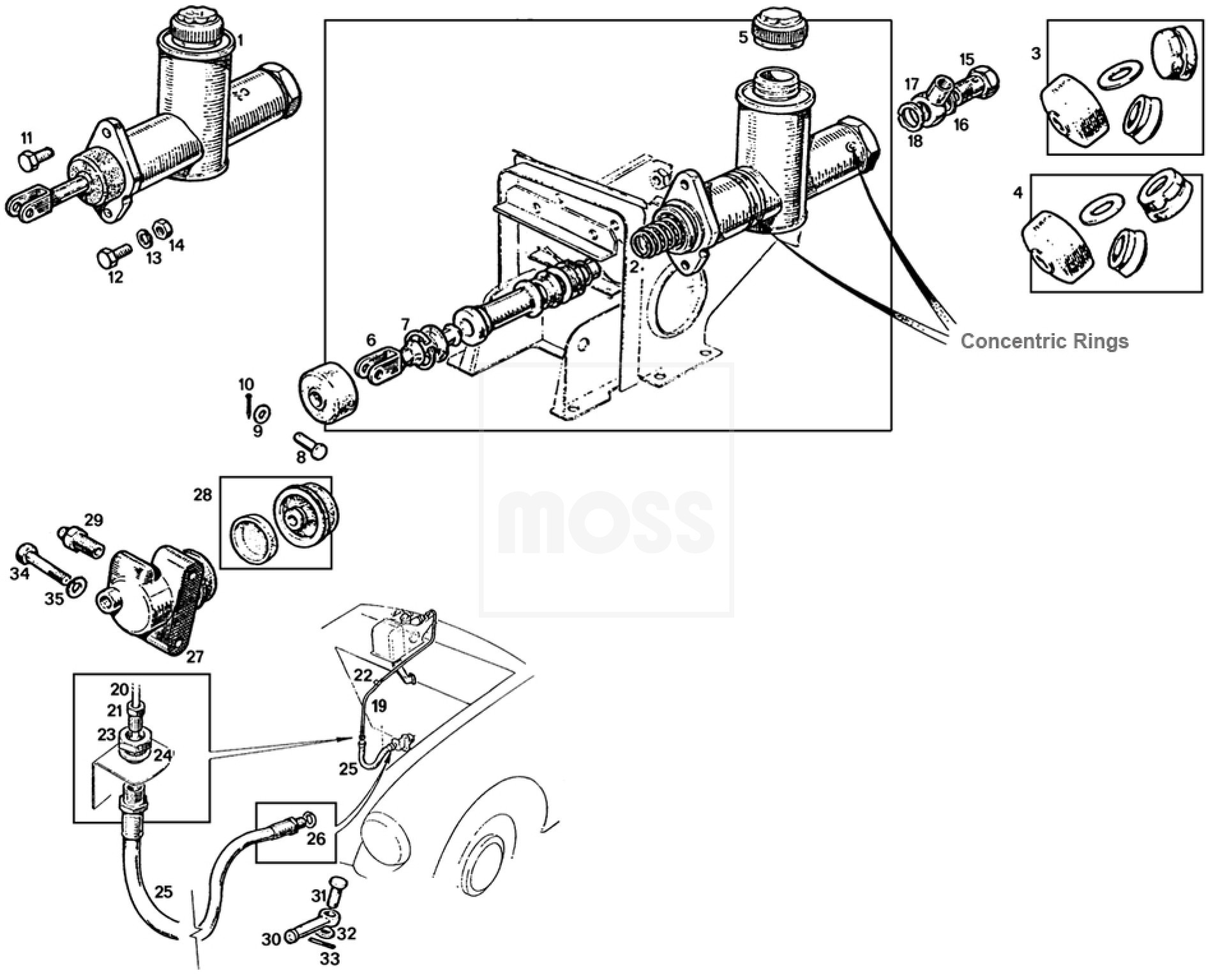 clutch master cylinder diagram