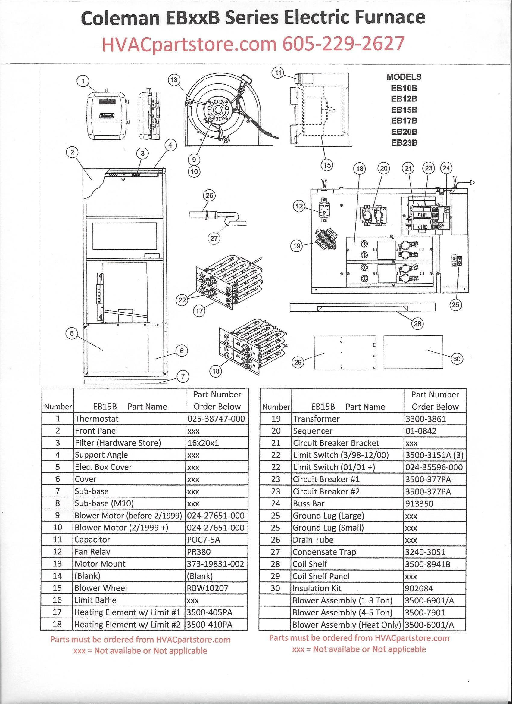 Coleman Furnace Wiring Diagram Wiring Diagram for the Coleman 25 Kw Electric Furnace Courtesy Of Coleman Furnace Wiring Diagram