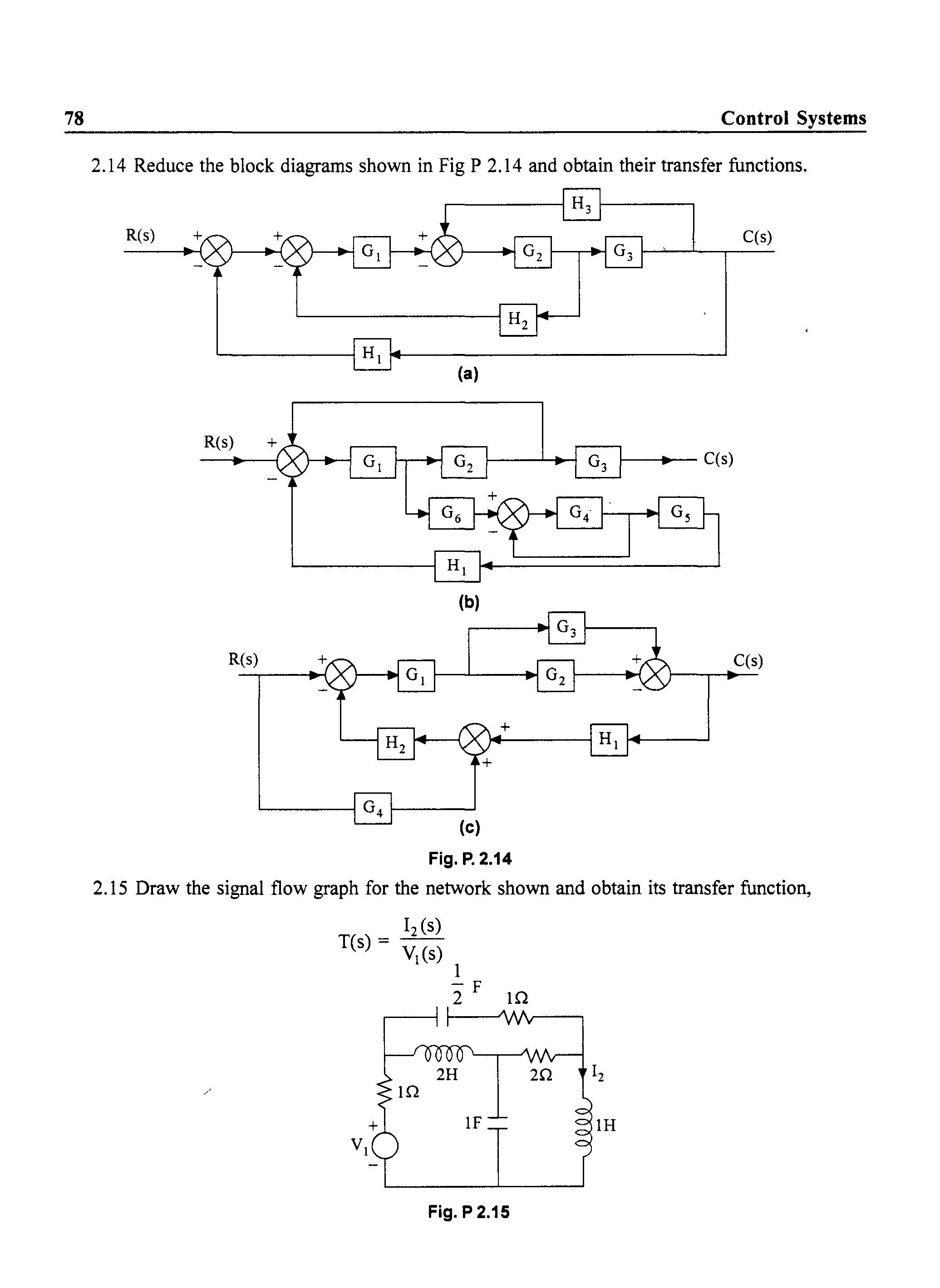 Control Engineering Block Diagram Reduction