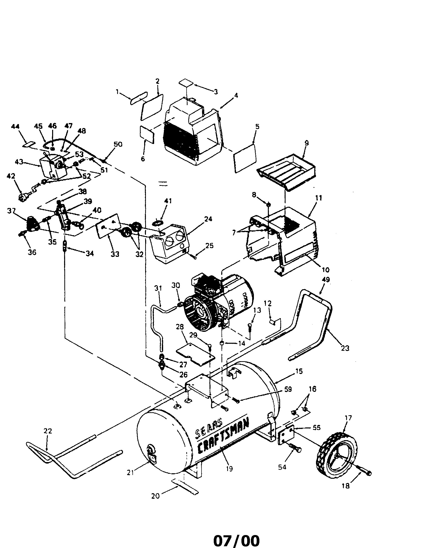 Craftsman Air Compressor Parts Diagram 919 Sears Craftsman Air Pressor Parts
