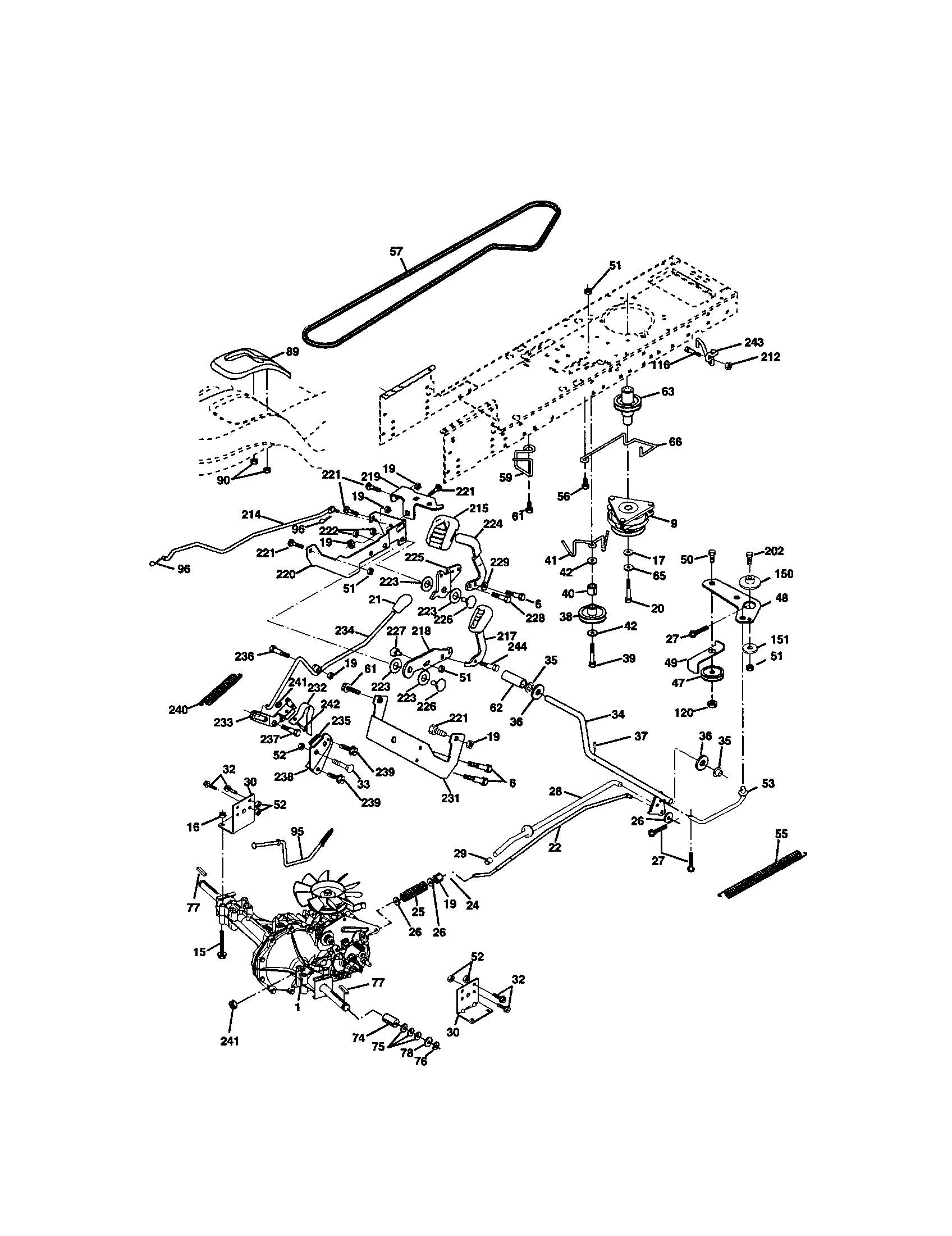 Craftsman Lawn Mower Parts Diagram 917 Craftsman 20 0 Hp Electric Start 48 In Mower Automatic Of Craftsman Lawn Mower Parts Diagram