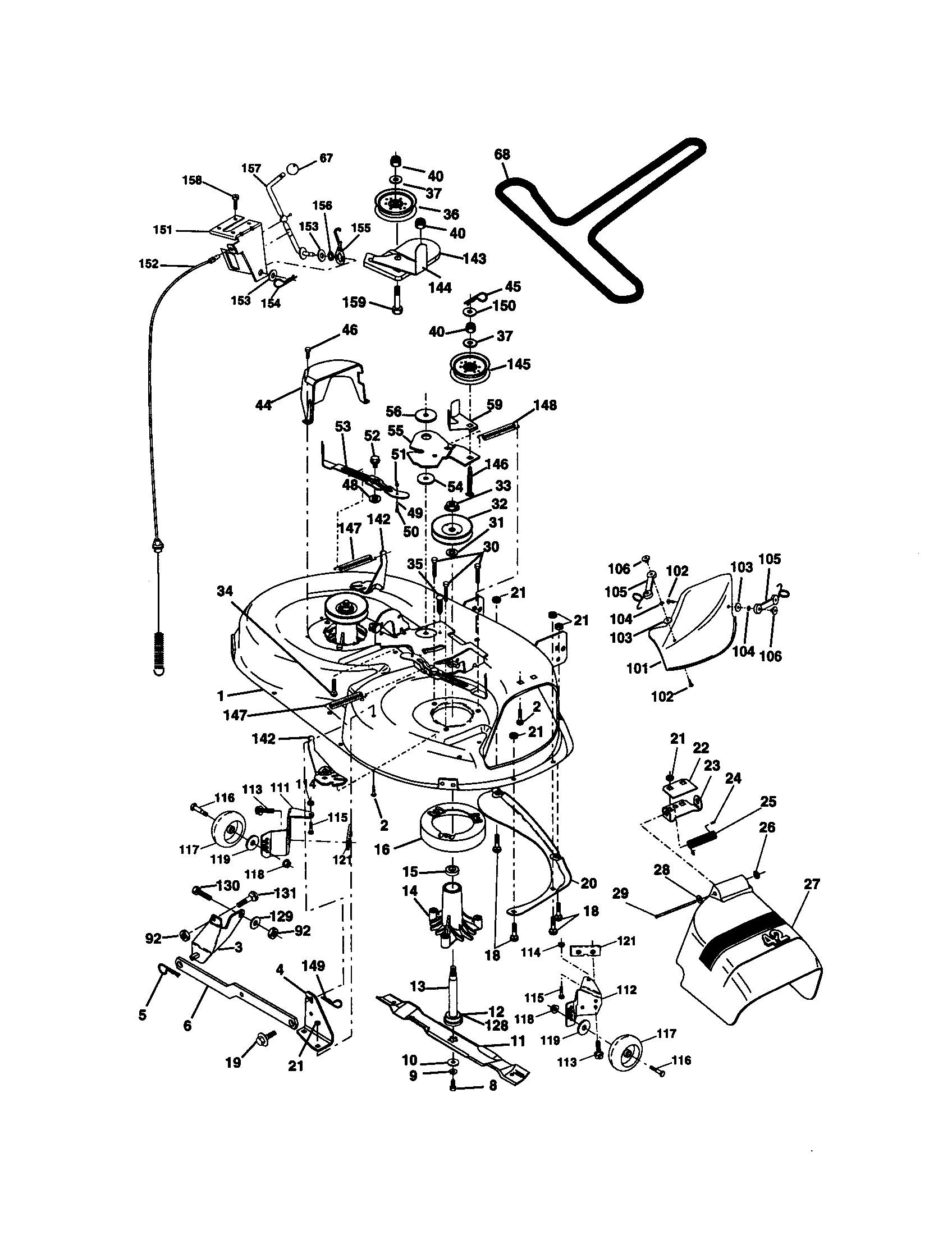 Craftsman Lawn Mower Parts Diagram Craftsman Model Lawn Tractor Genuine Parts Of Craftsman Lawn Mower Parts Diagram