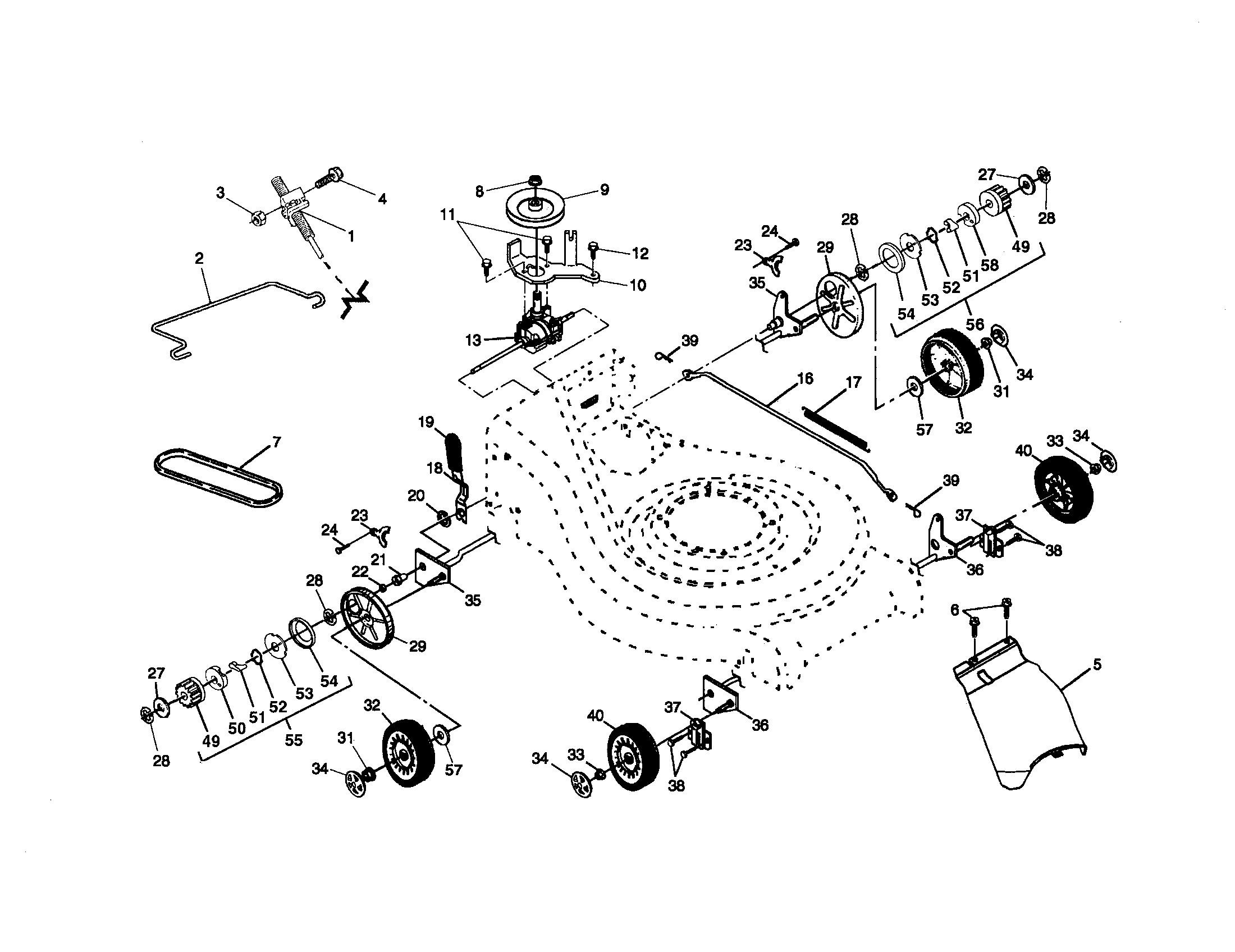 Craftsman Lawn Mower Parts Diagram My Wiring On Model Walk Behind Lawnmower Gas Genuine Of