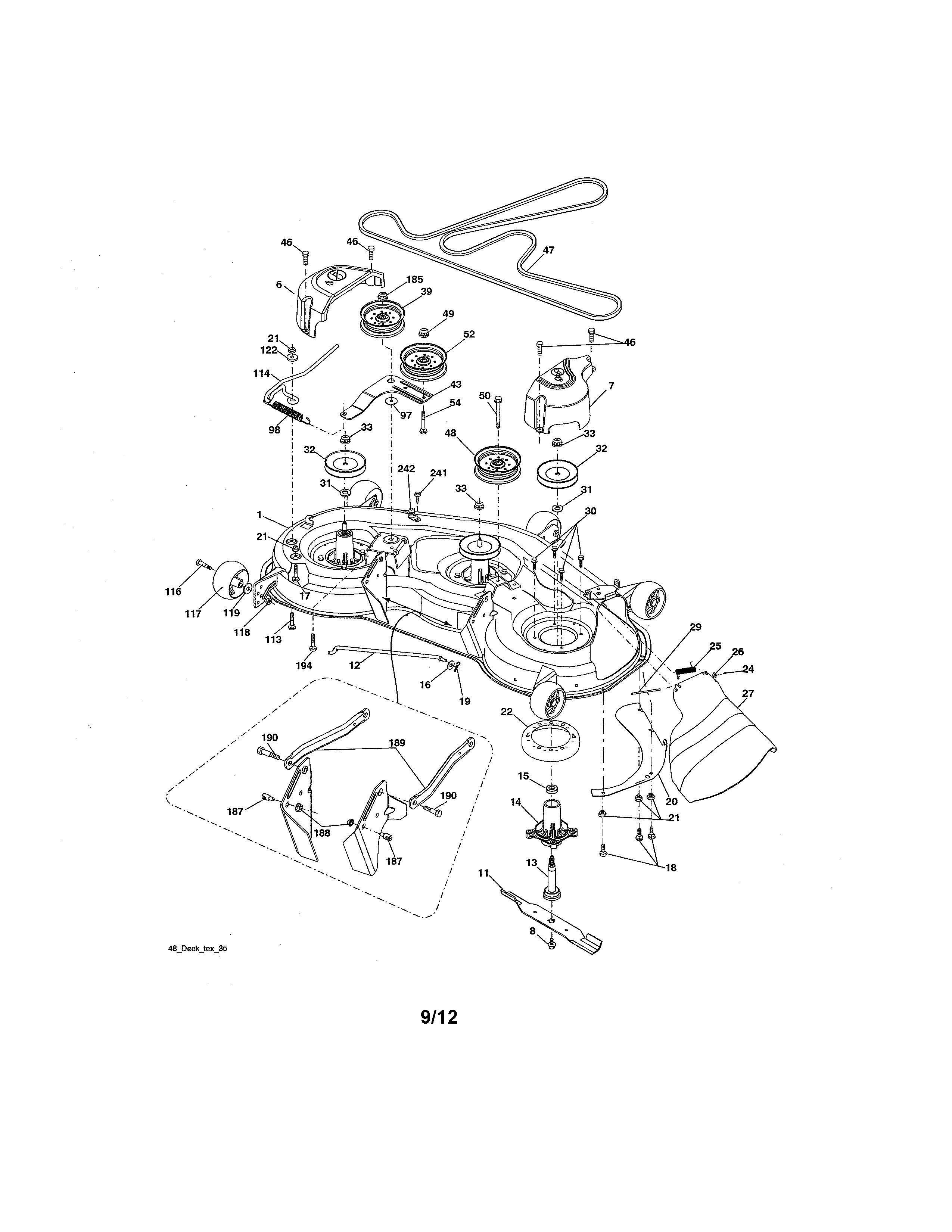 Craftsman Lawn Mower Parts Diagram Mower Deck Diagram & Parts List for Model Craftsman Parts Of Craftsman Lawn Mower Parts Diagram