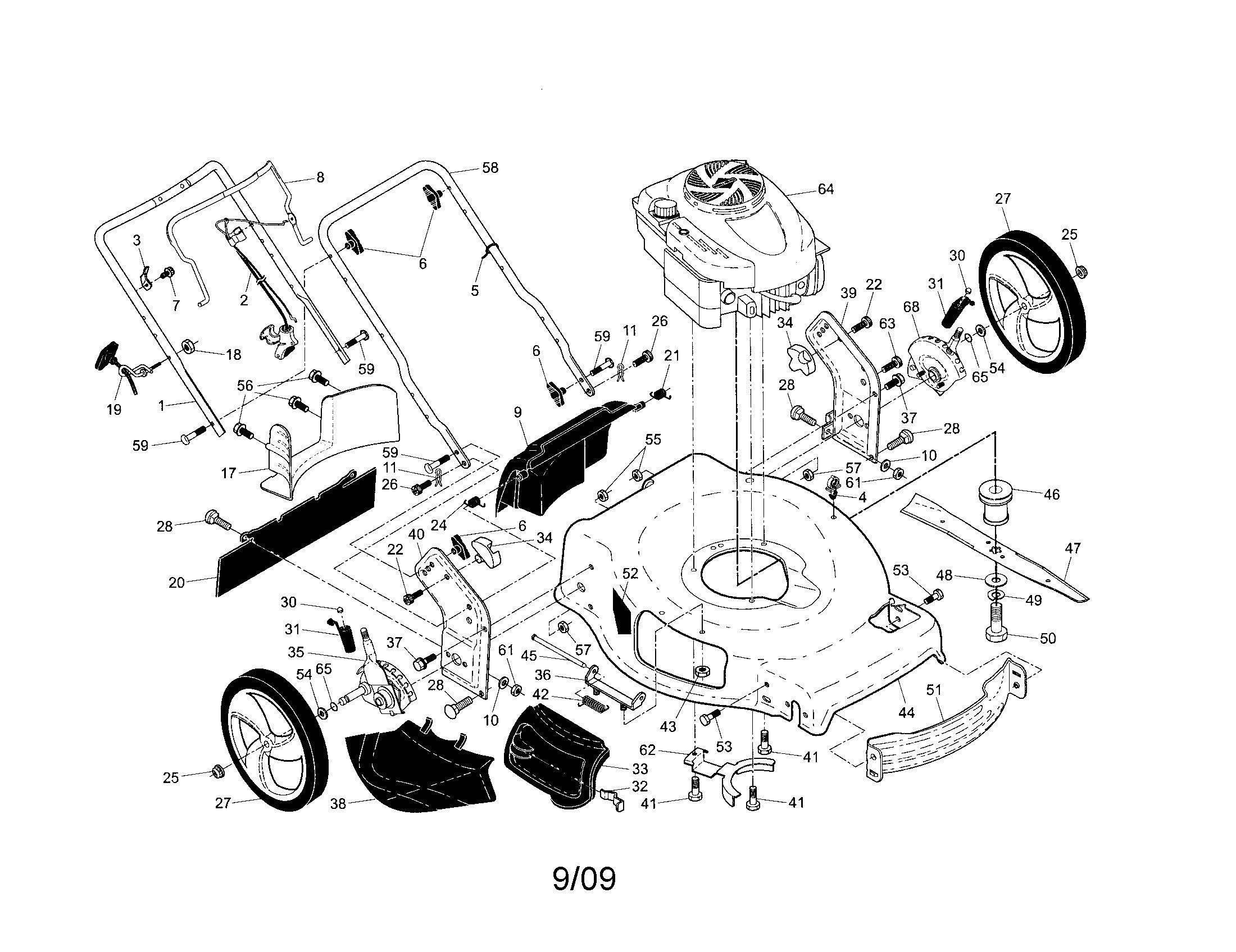 Craftsman Lawn Tractor Parts Diagram Craftsman Model Walk Behind Lawnmower Gas Genuine Parts Of Craftsman Lawn Tractor Parts Diagram
