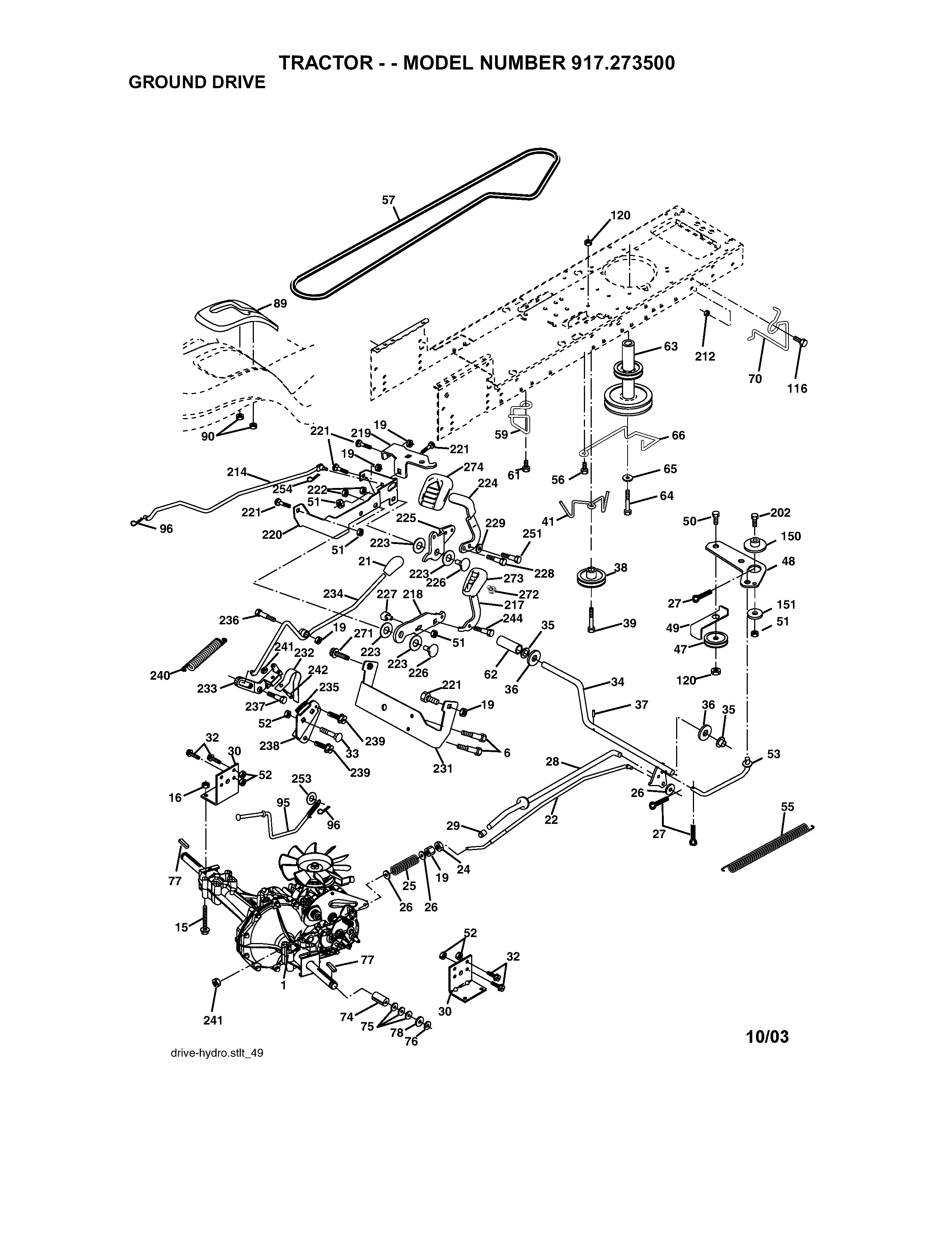 Craftsman Riding Lawn Mower Parts Diagram 917 Craftsman 16 5 Hp 42 In Mower Electric Start Automatic Of Craftsman Riding Lawn Mower Parts Diagram