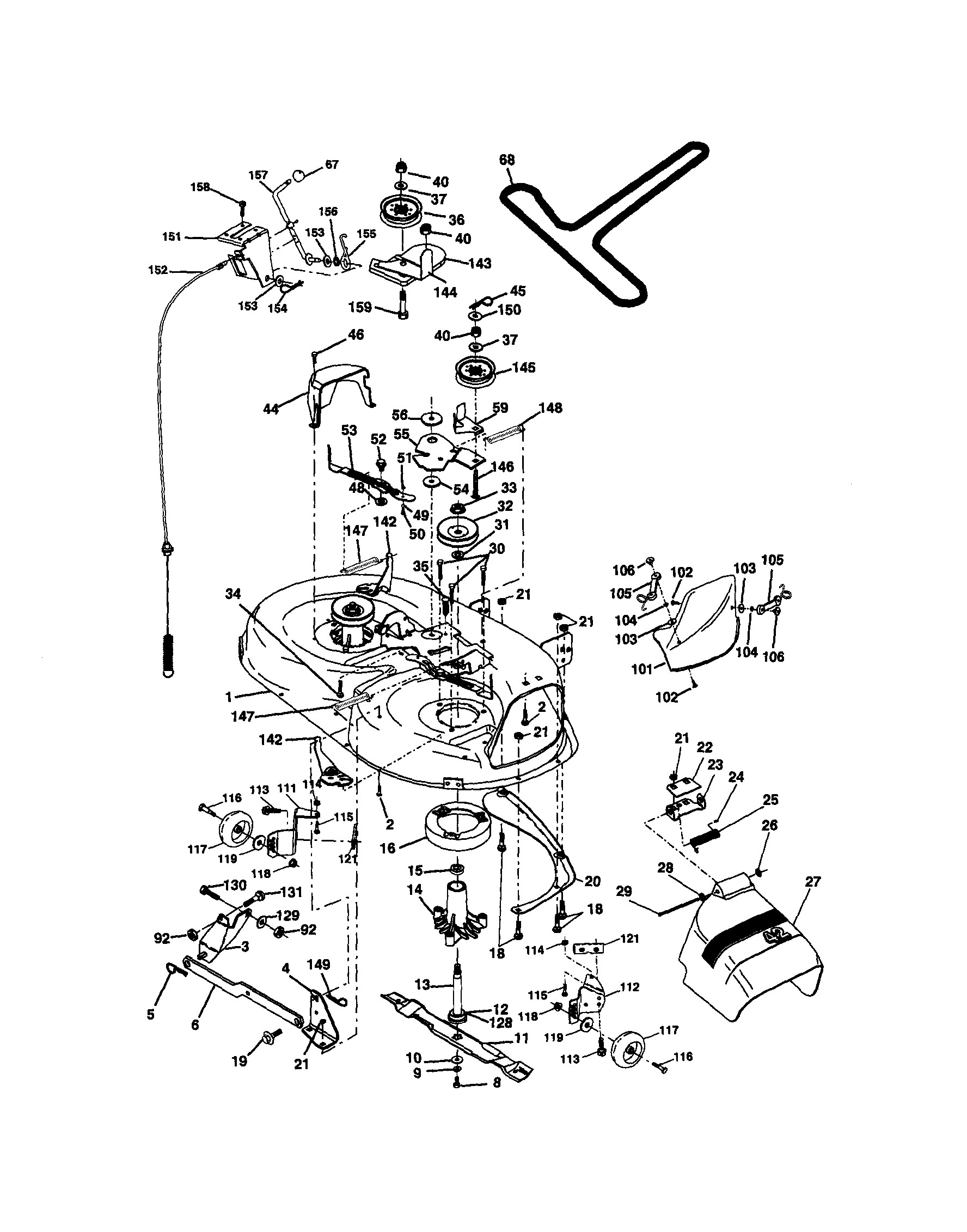 craftsman riding mower parts diagram craftsman model lawn