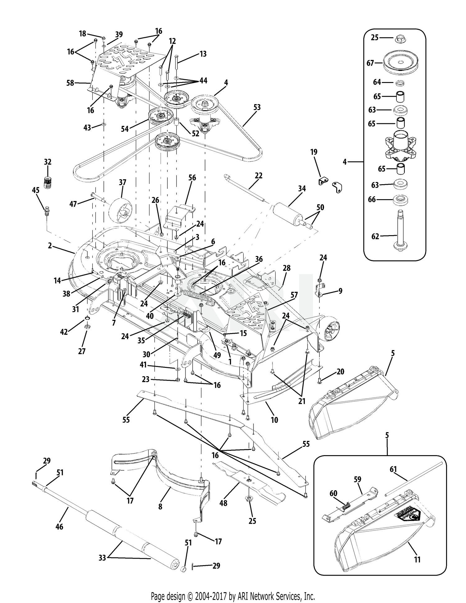 Cub Cadet Mower Deck Parts Diagram Diagrams Rzt54 Kawasaki 2009