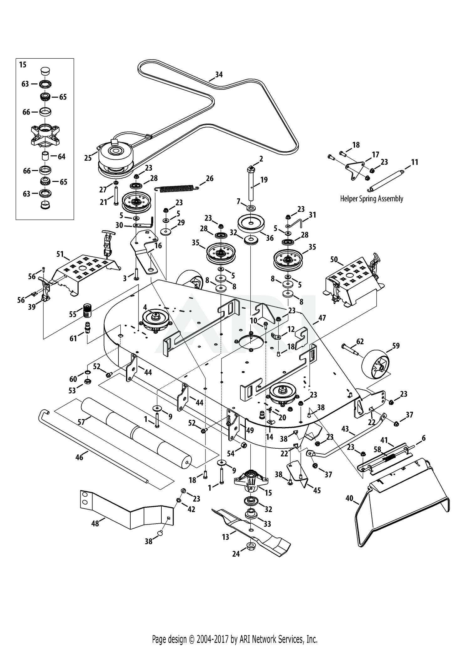 cub cadet mower deck parts diagram cub cadet parts