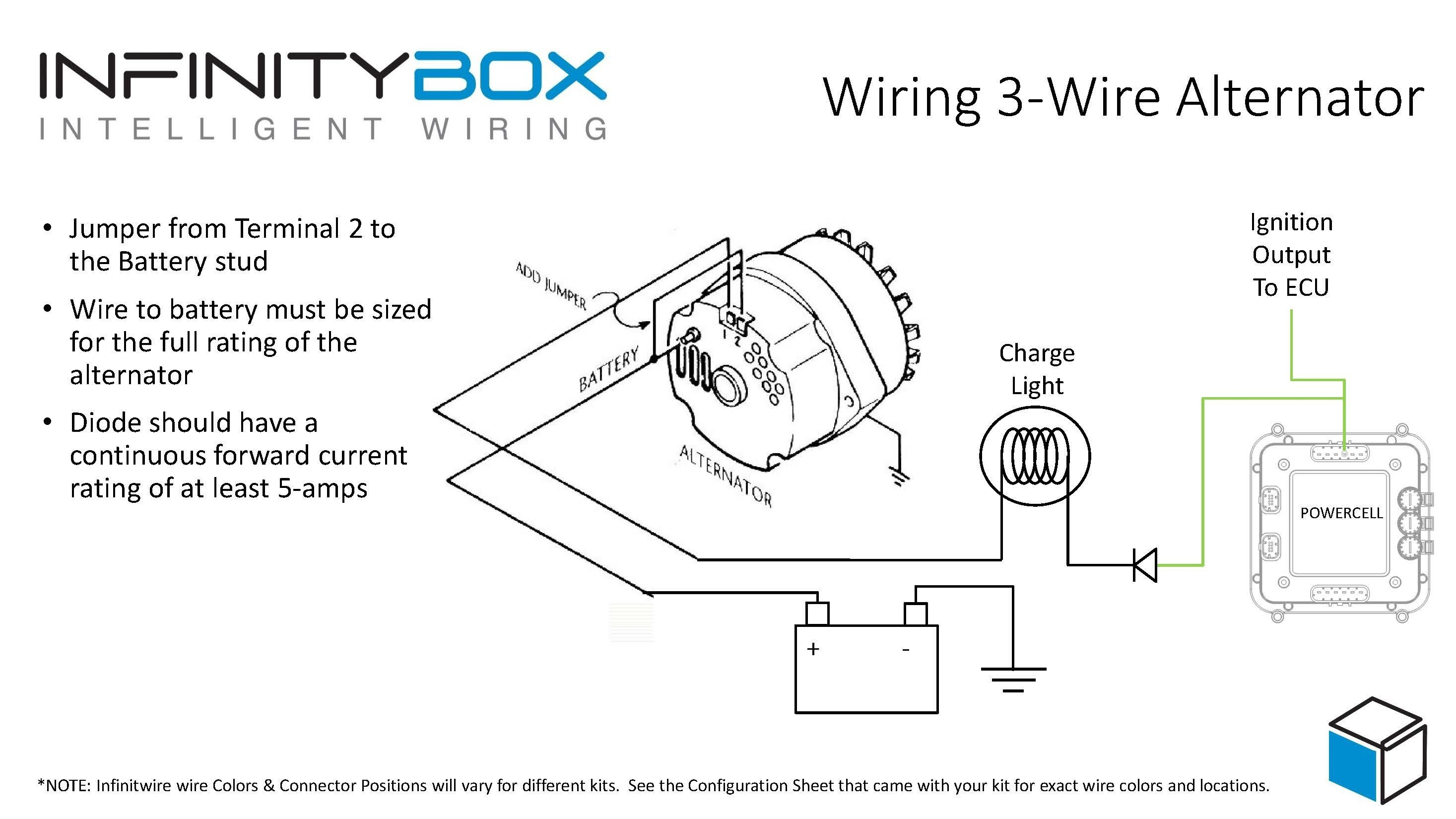 Delco Alternator Wiring Diagram Awesome 3 Wire Alternator Wiring Diagram  Diagram Of Delco Alternator Wiring Diagram