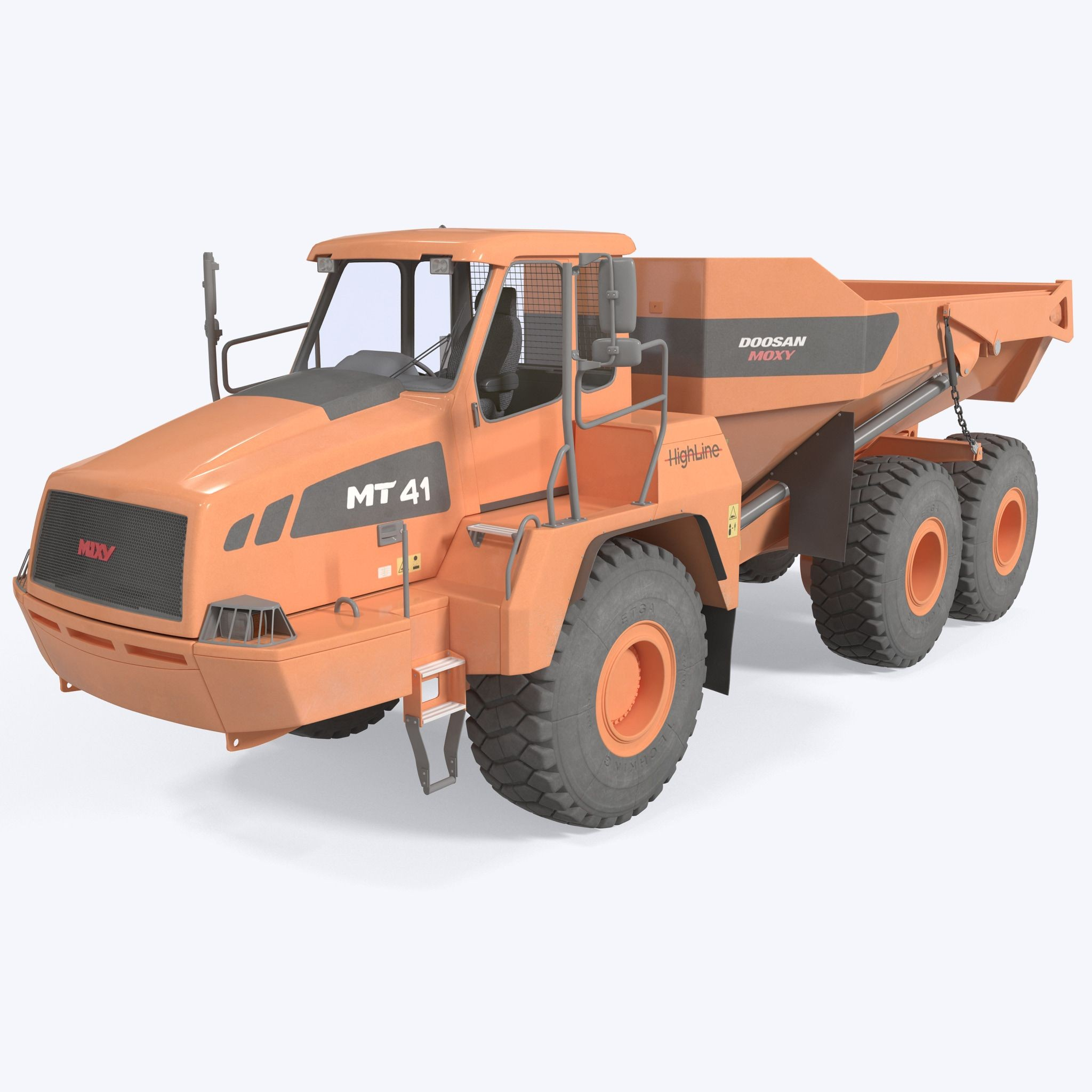 Diagram Of A Dump Truck 3d Articulated Truck Doosan Moxy 3d Model Of Diagram Of A Dump Truck
