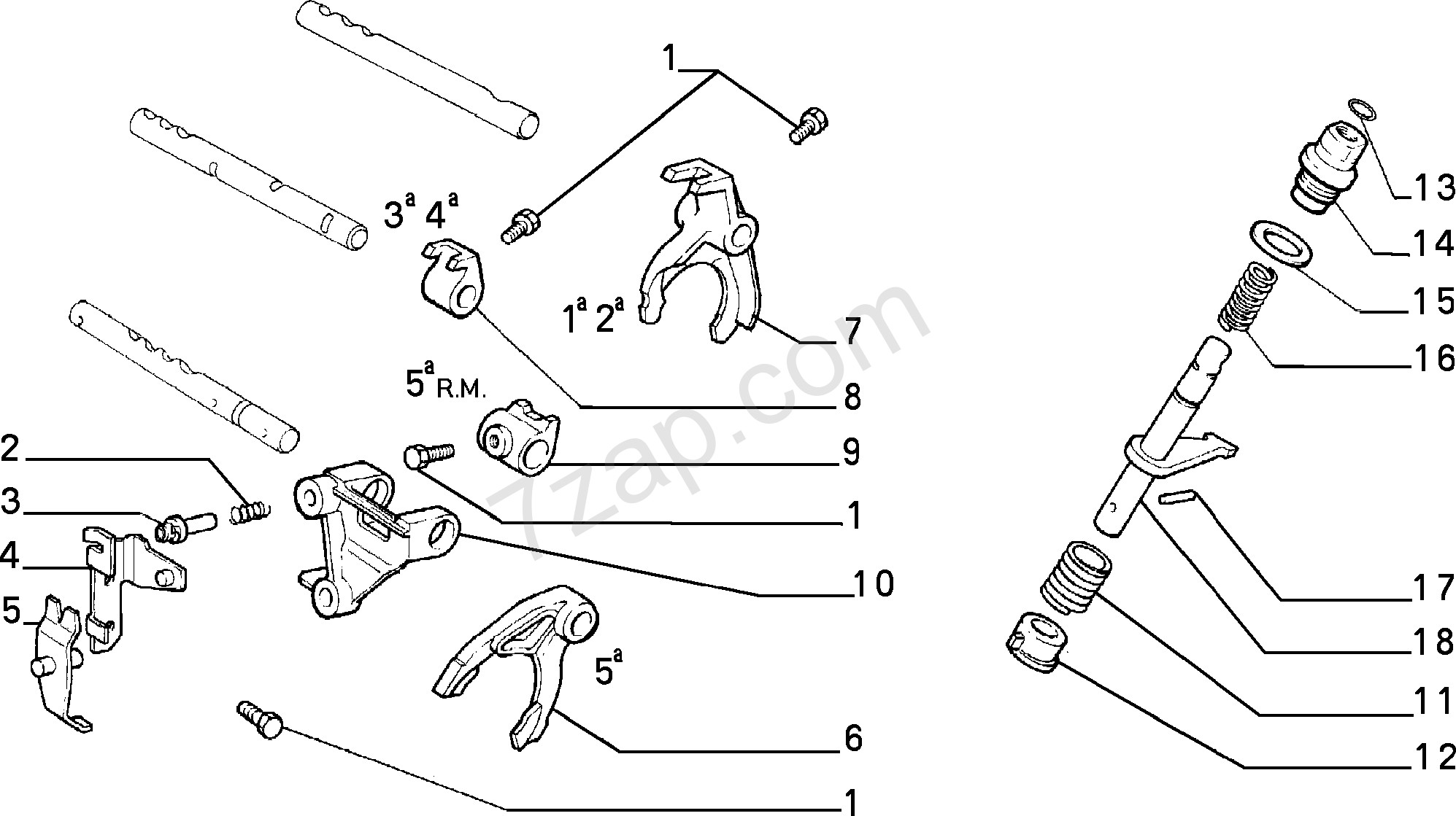 Diagram Of A Transmission Transmission Inner Controls Fiat Pro Nuovo Ducato Bz R 90 1990 1994 Of Diagram Of A Transmission