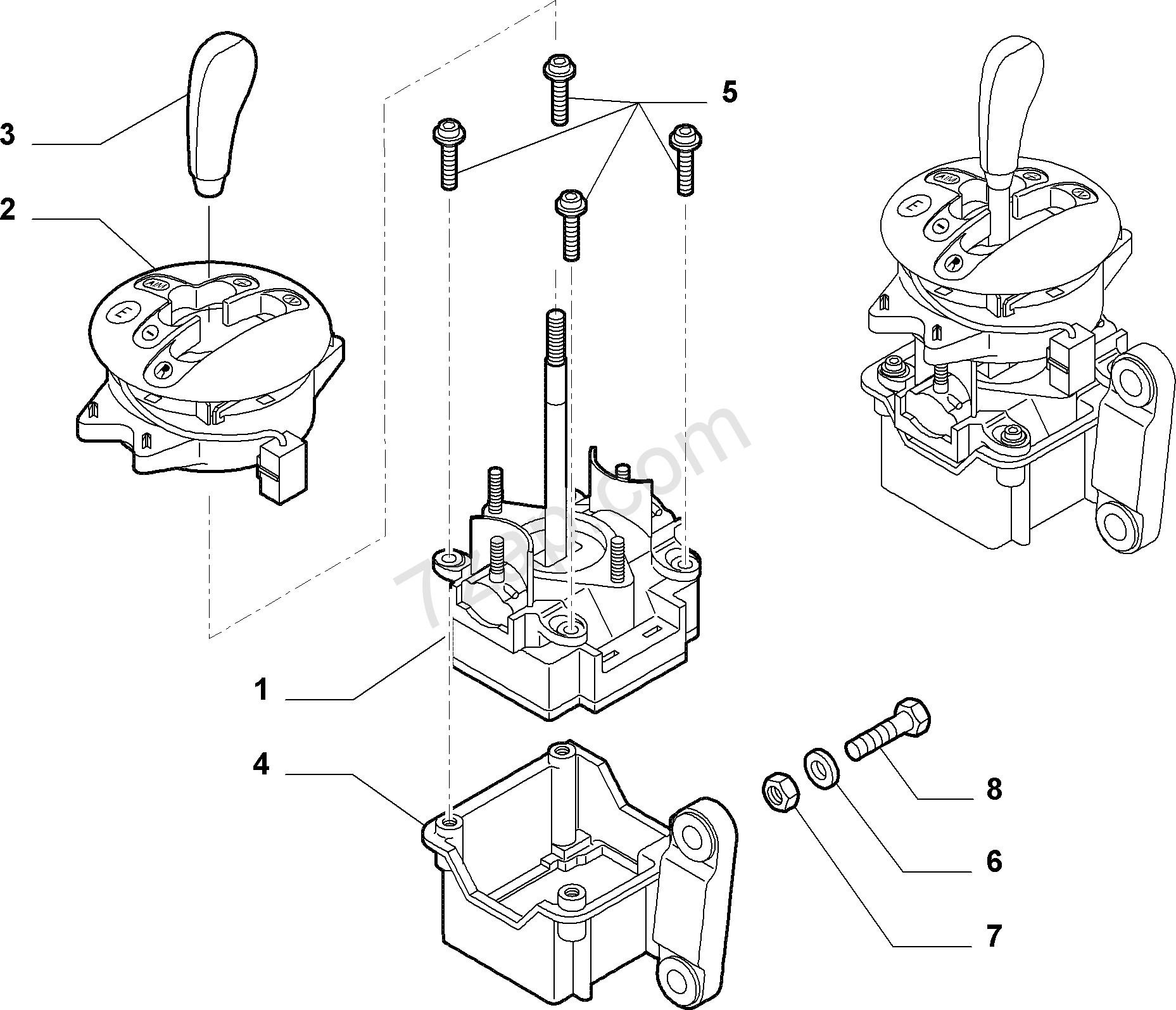 Diagram Of A Transmission Transmission Outer Controls Fiat Idea 2008 2012 Of Diagram Of A Transmission