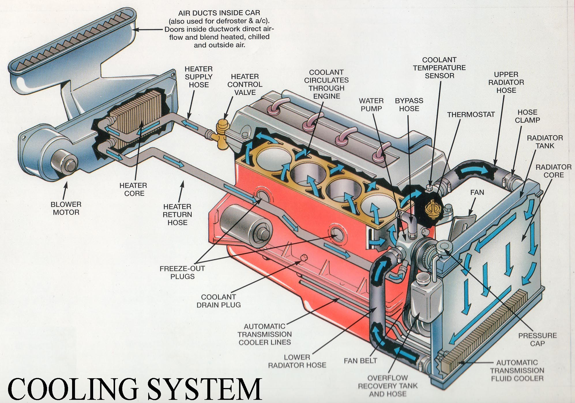 Diagram Of Car Cooling System Car Radiator Diagram Radiator Diagram Diagram Chart Gallery Of Diagram Of Car Cooling System