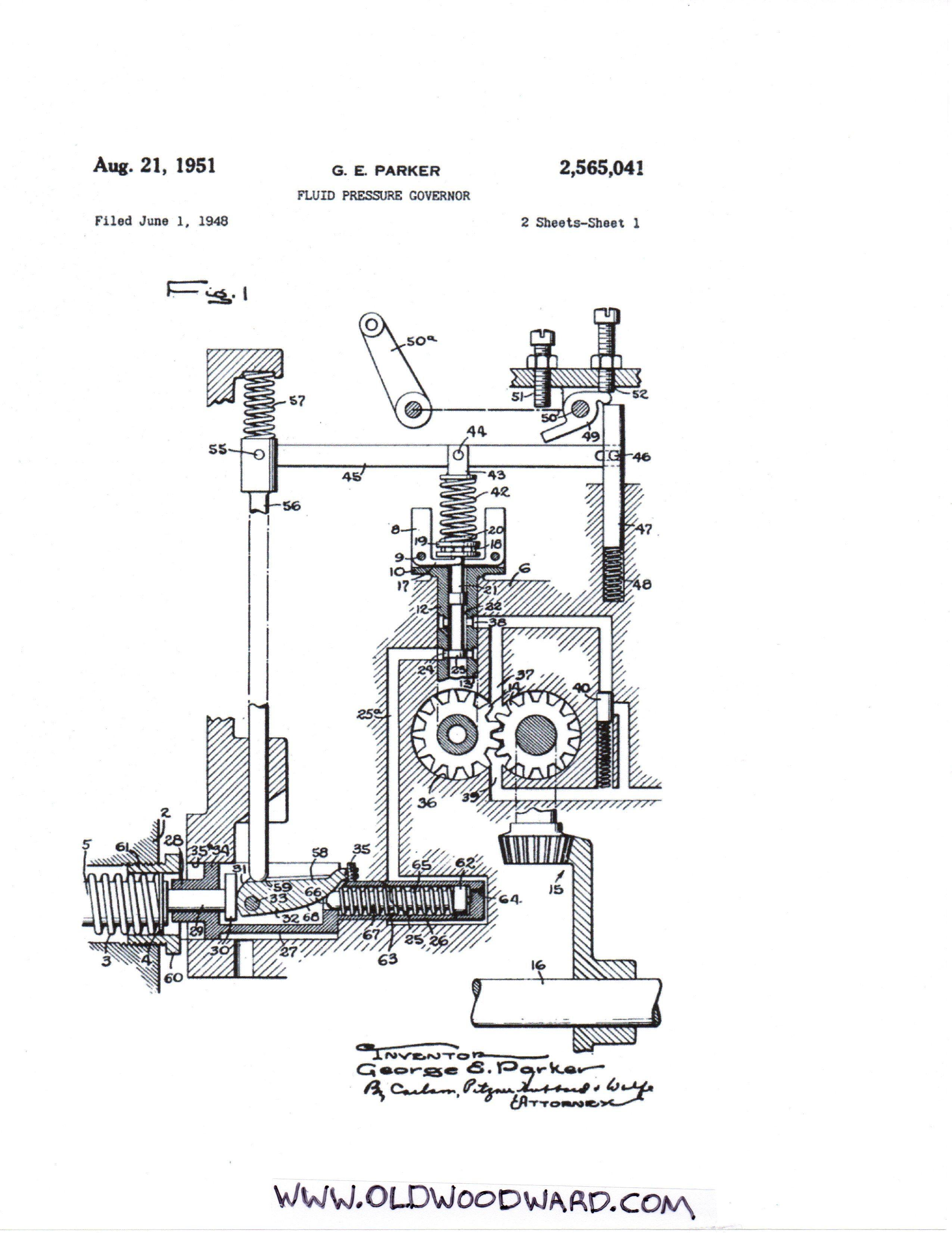 Diagram Of Diesel Engine Woodward Type Pm Governor Patent Of Diagram Of Diesel Engine