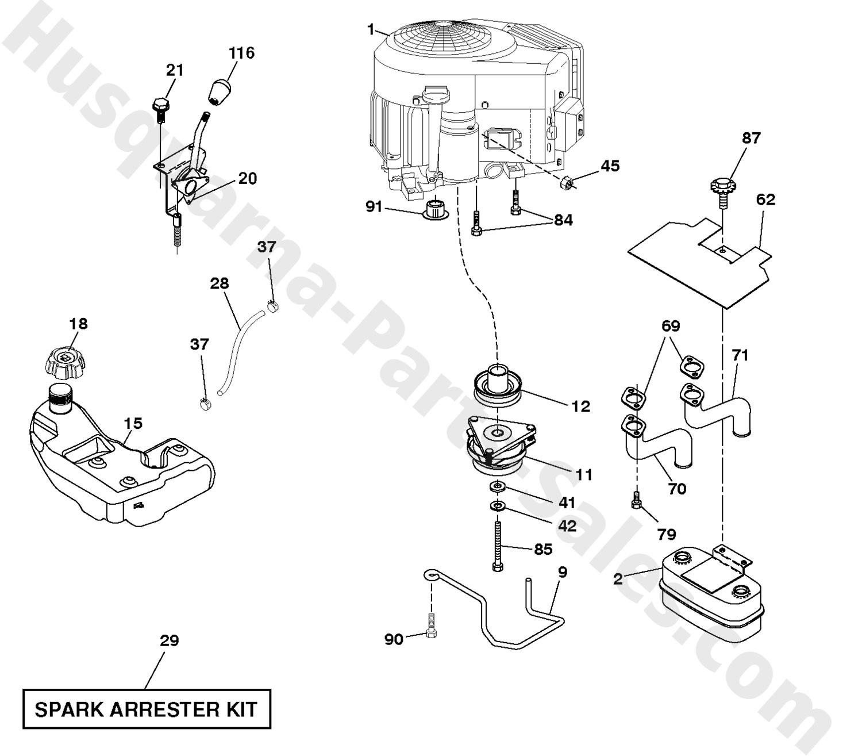 Diagram Of Lawn Mower Engine Yth22v46xls Husqvarna Riding Mower Engine Parts Of Diagram Of Lawn Mower Engine