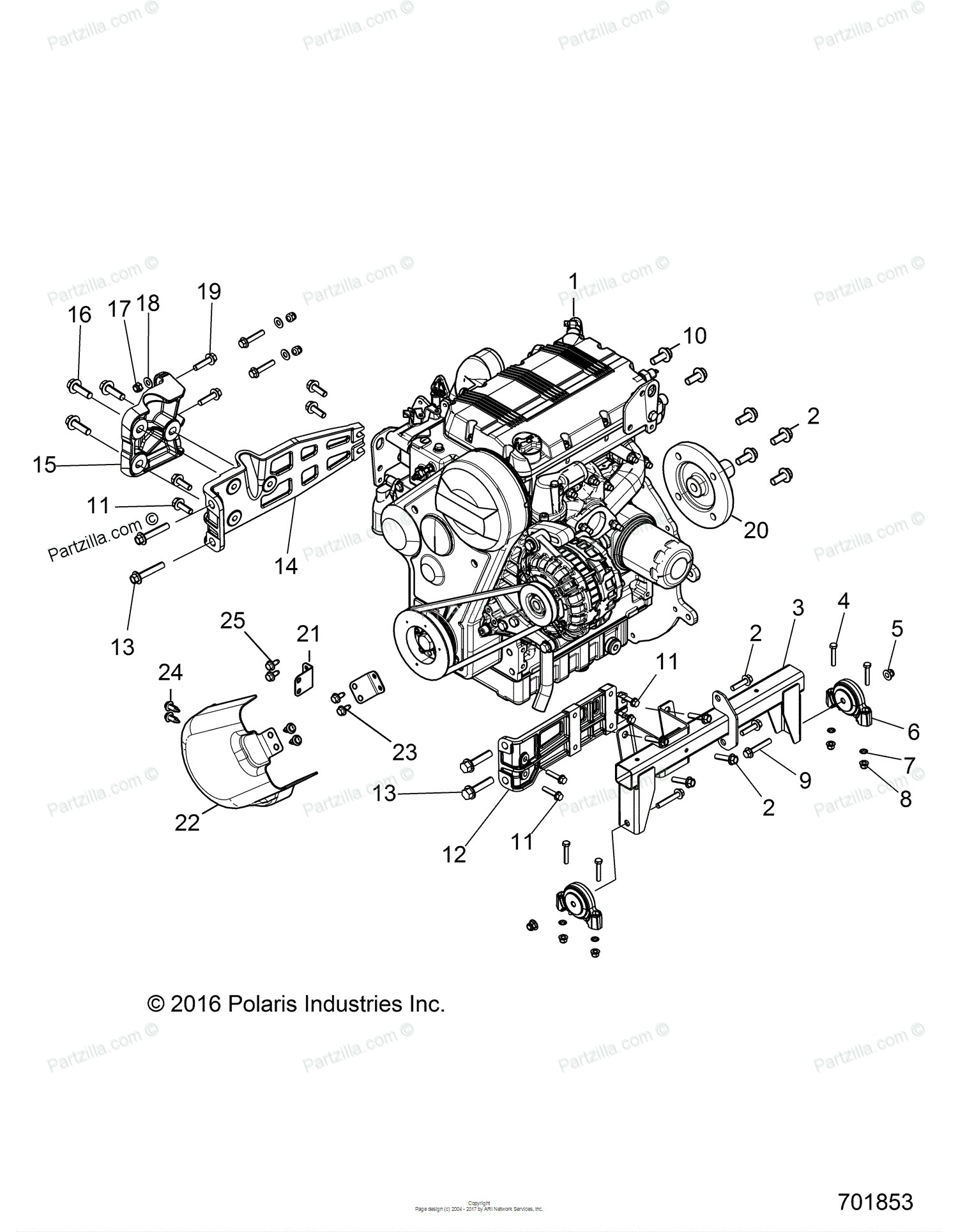 Diesel Engine Parts Diagram Polaris Side by Side 2017 Oem Parts Diagram for Engine Mounting Of Diesel Engine Parts Diagram