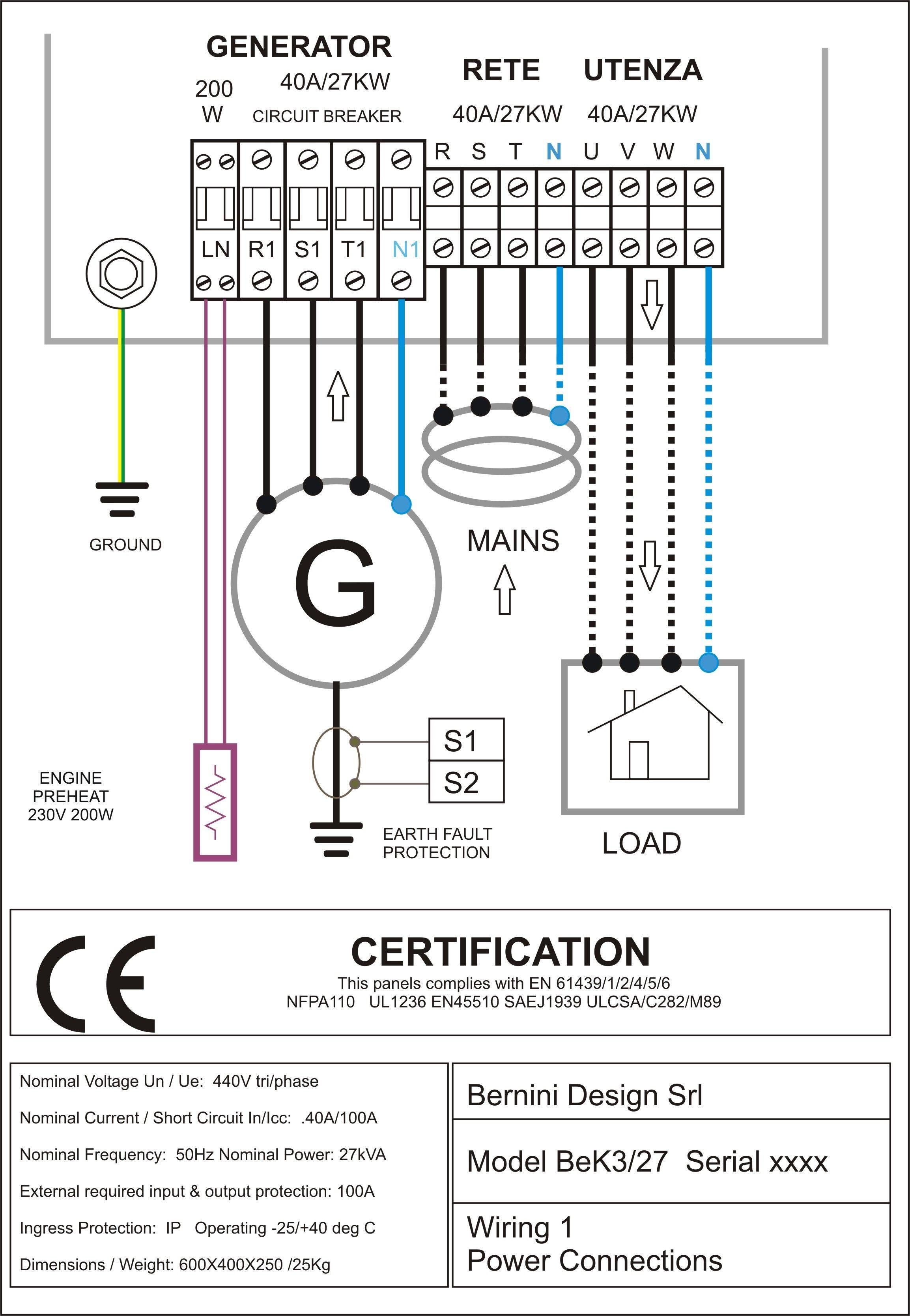Diesel Engine Starter Wiring Diagram Sel Generator Control Panel Wiring Diagram Ac Connections Of Diesel Engine Starter Wiring Diagram