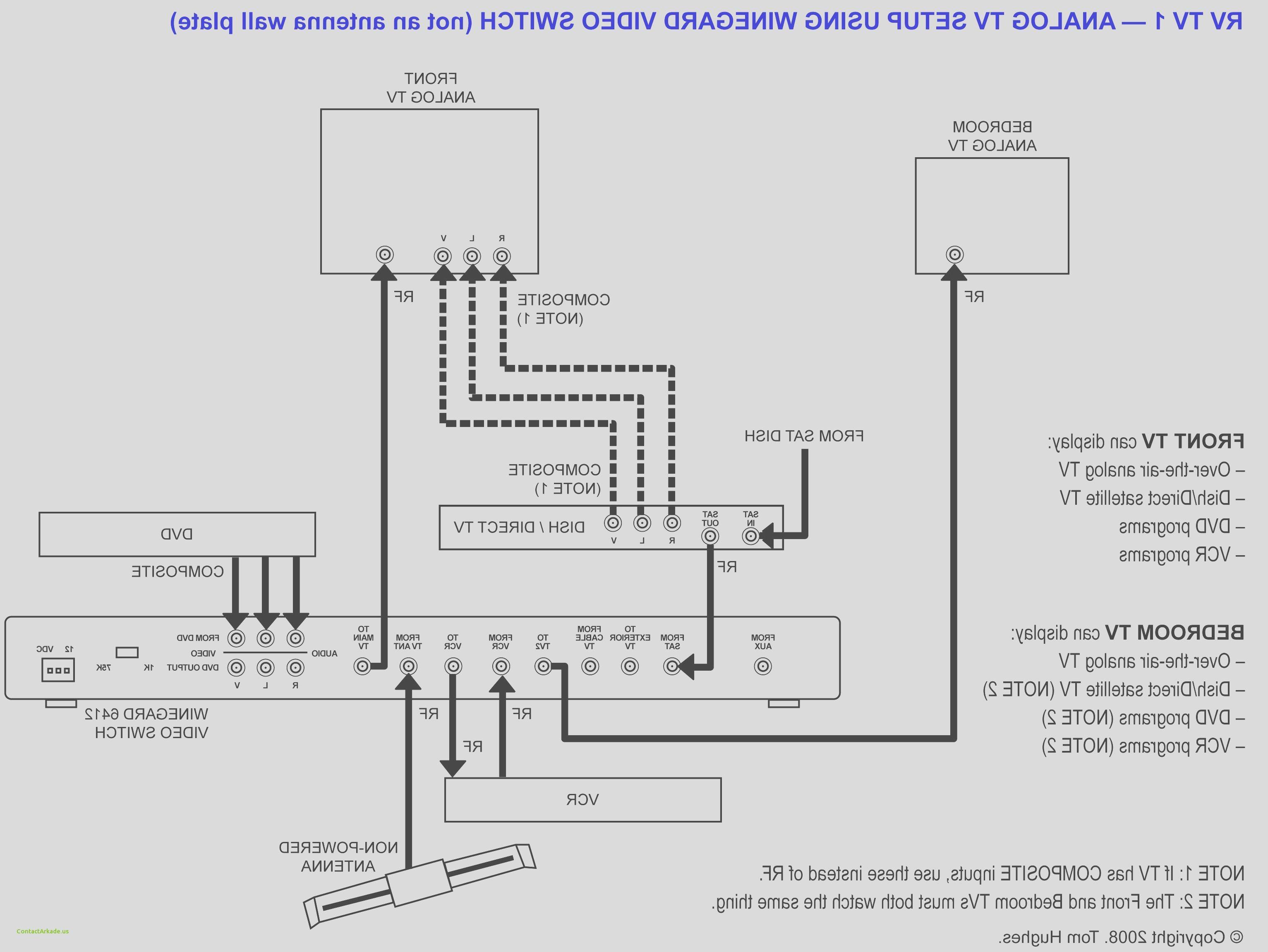 direct tv satellite dish wiring diagram elegant rv cable
