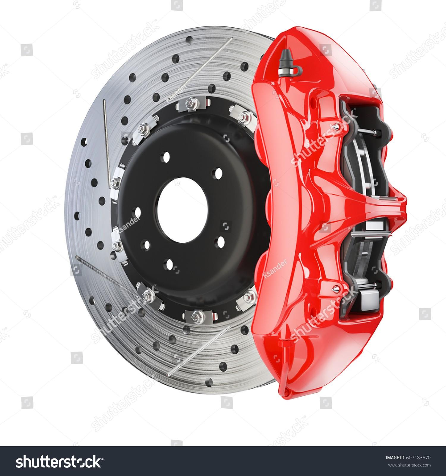 Disc Brake Schematic Diagram Brake Disk Red Caliper Brakes System Stock Illustration Of Disc Brake Schematic Diagram