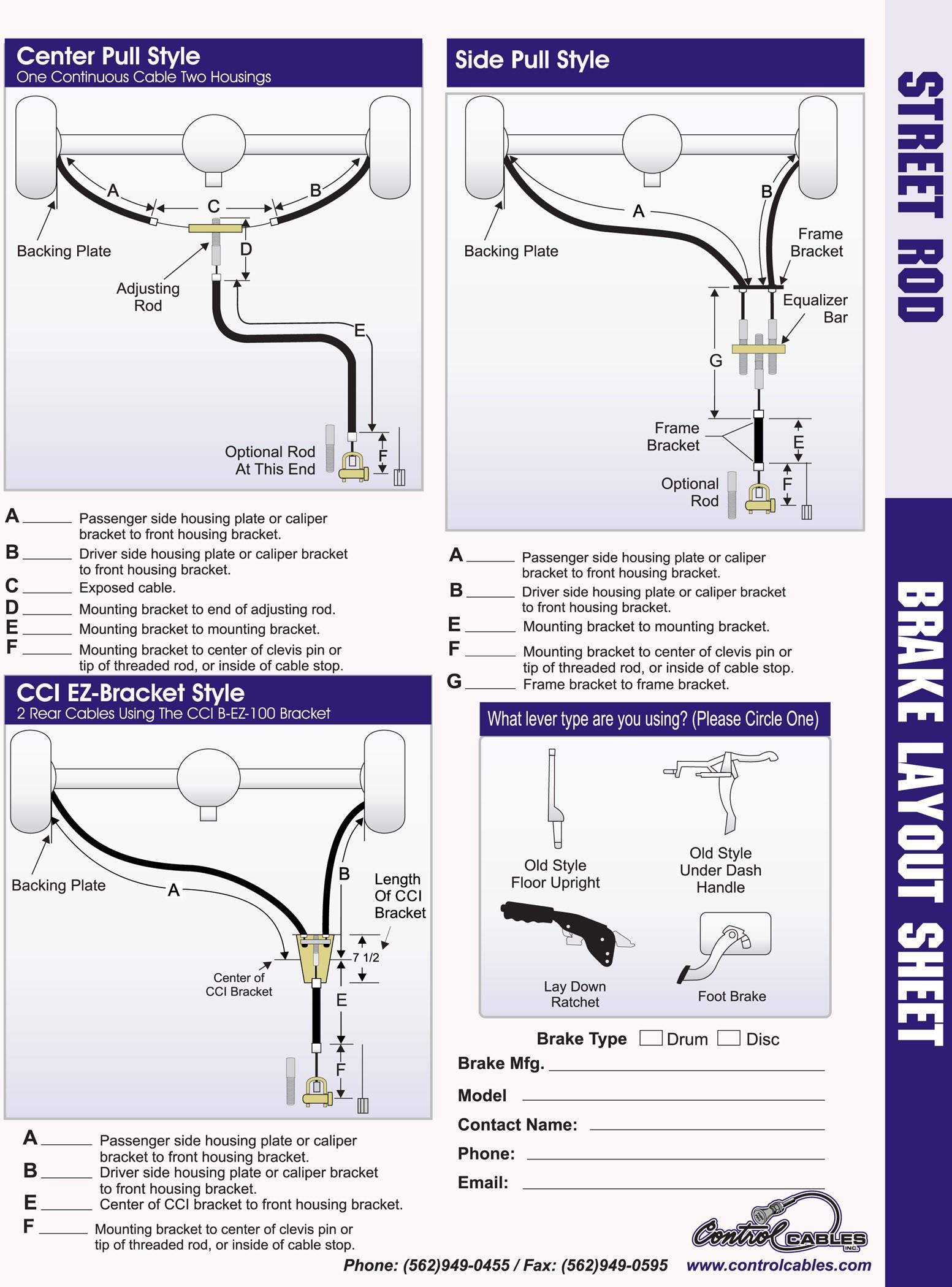 Disc Brake System Diagram Emergency Parking Brakes for Hot Rods – Racingjunk News Of Disc Brake System Diagram