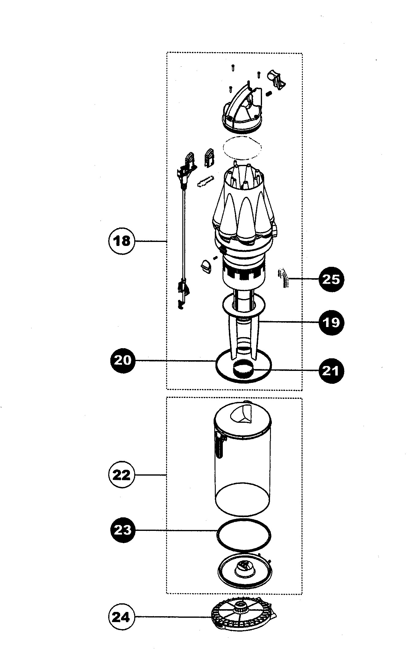 Dyson Dc07 Parts Diagram Dc40 Oreck Vac Central Wiring Vacuum Exploded Drawings Diagrams Schematic Of