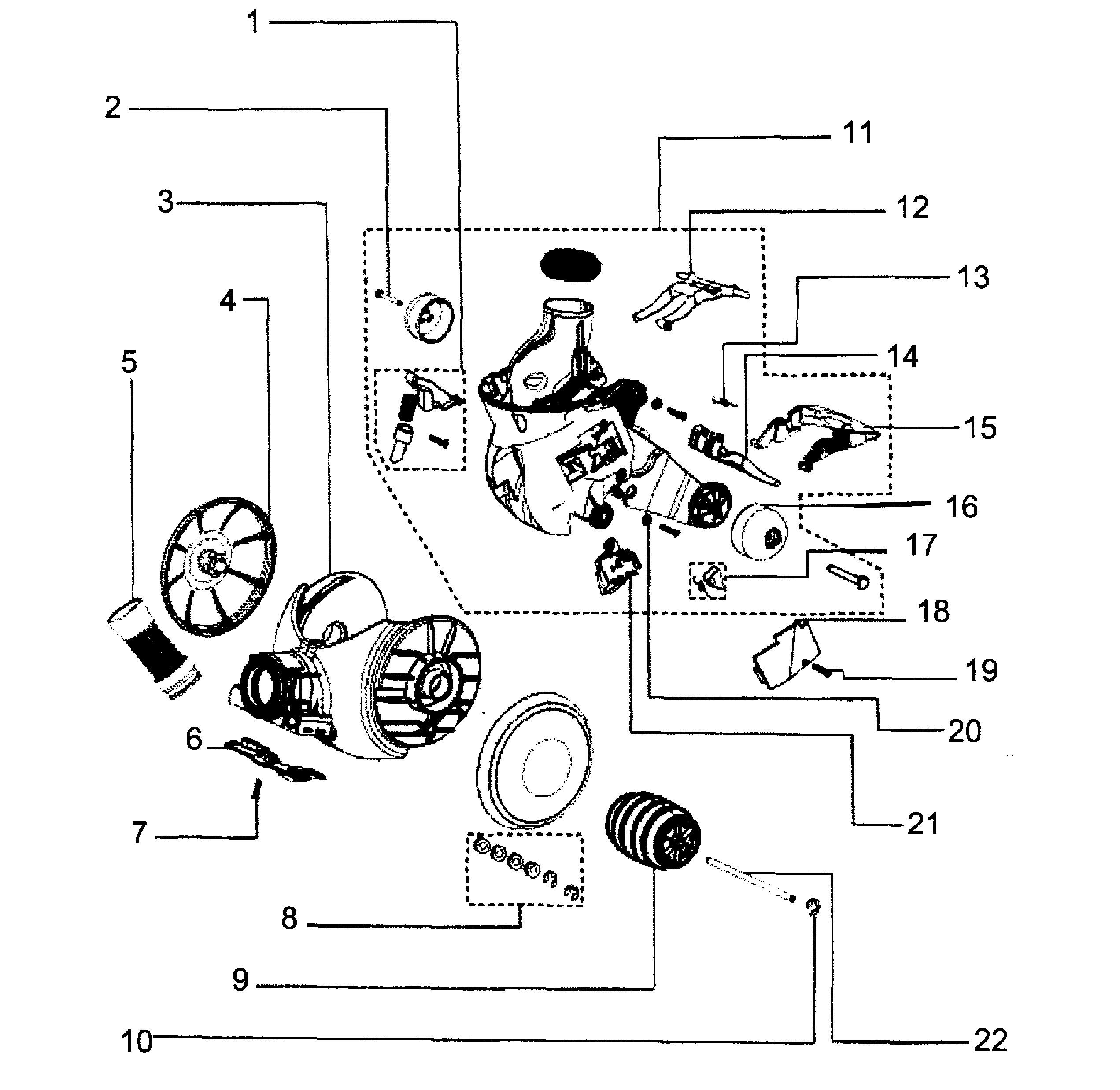 Dyson Dc18 Parts Diagram Dyson Model Dc18 Vacuum Upright Genuine Parts Of Dyson Dc18 Parts Diagram