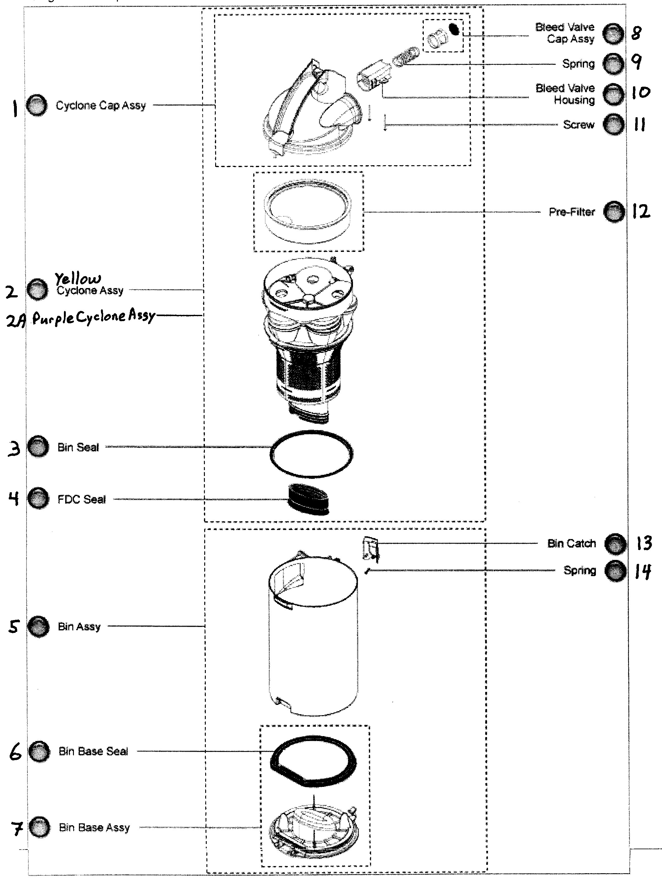 dyson dc25 parts diagram my wiring diagram