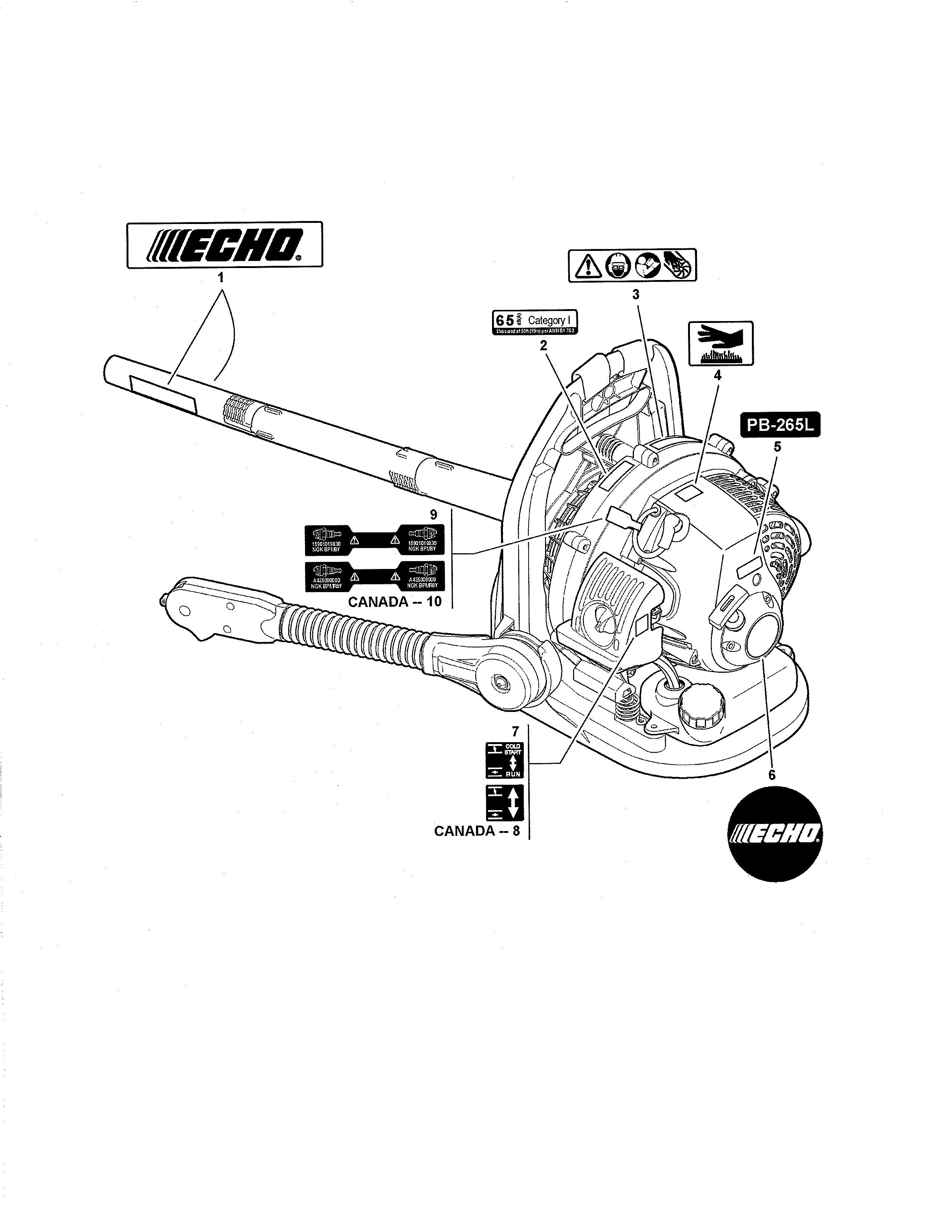 Echo Blower Parts Diagram
