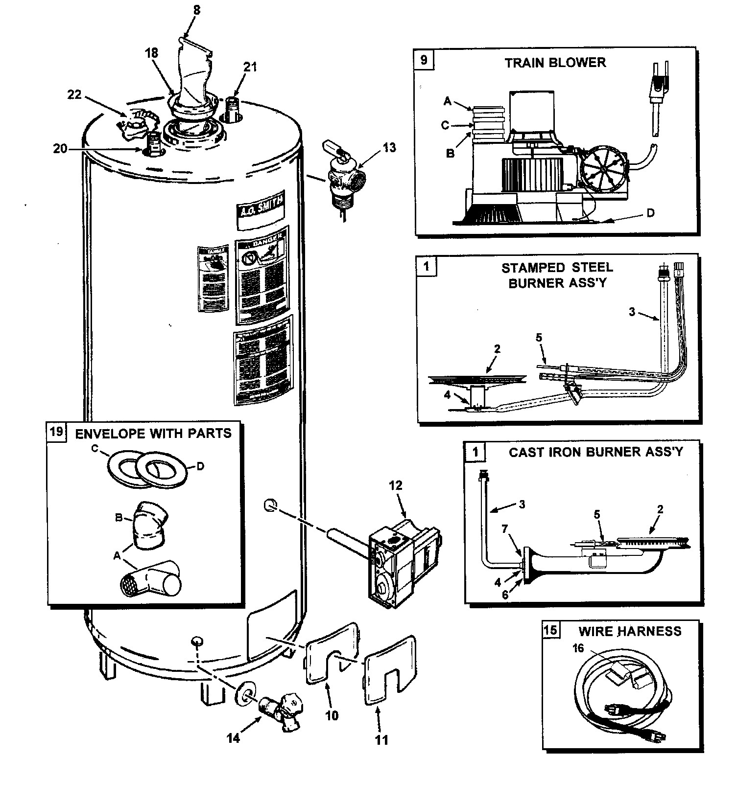 Electric Water Heater Parts Diagram Fancy Wiring For Propane Ao Smith Burner Motor Replacement Of