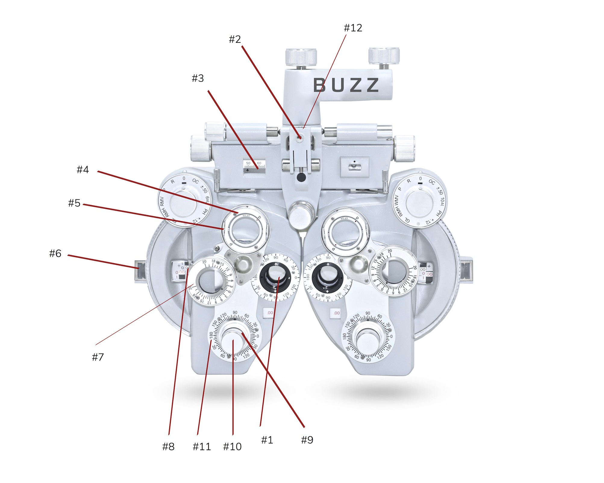 Engine Cylinder Diagram Phoropter Parts & Diagram Buzzoptics Of Engine Cylinder Diagram