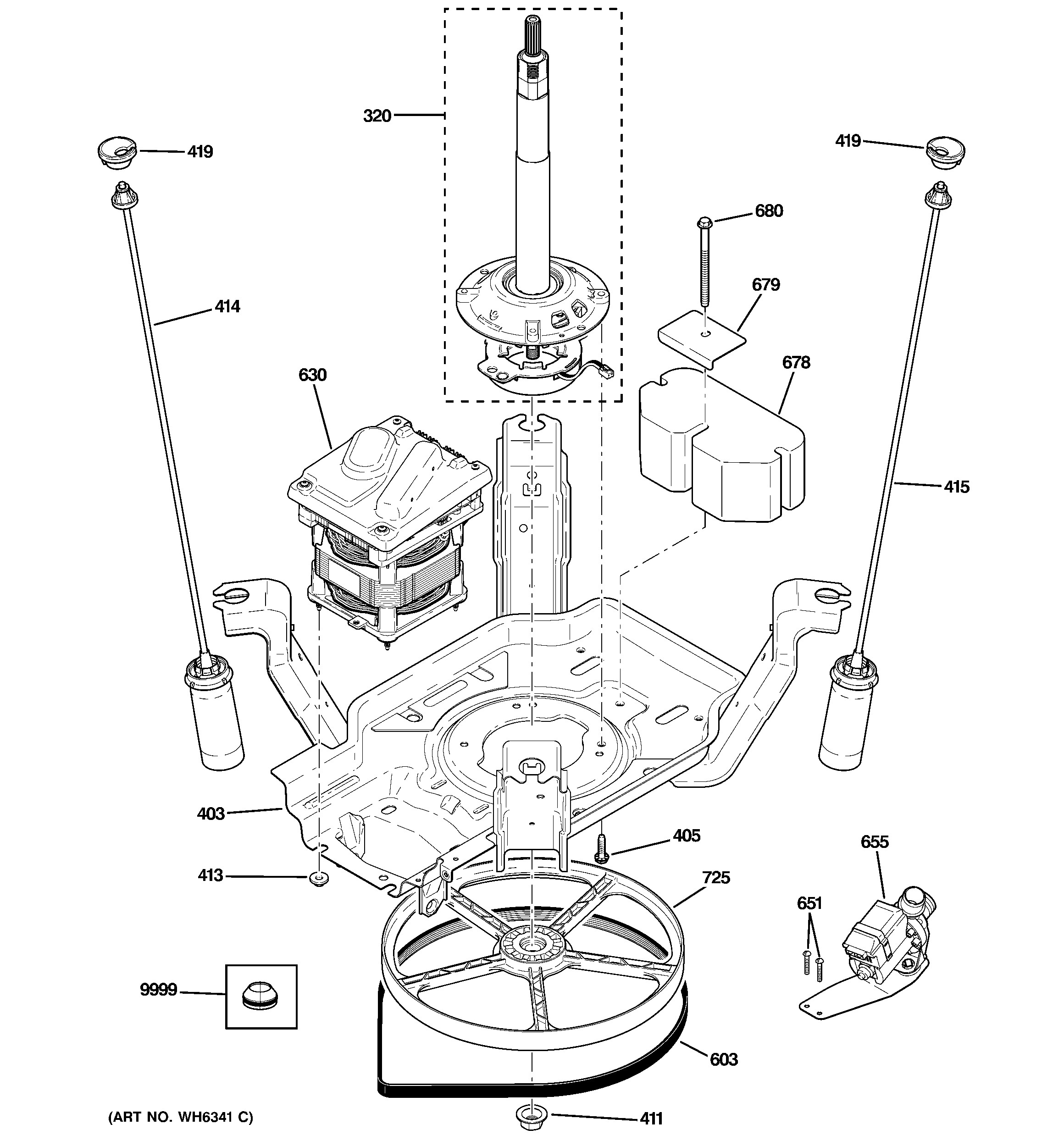 Engine Parts Diagram Names Ge Washer Parts Model Wjre5500g0ww – My ...