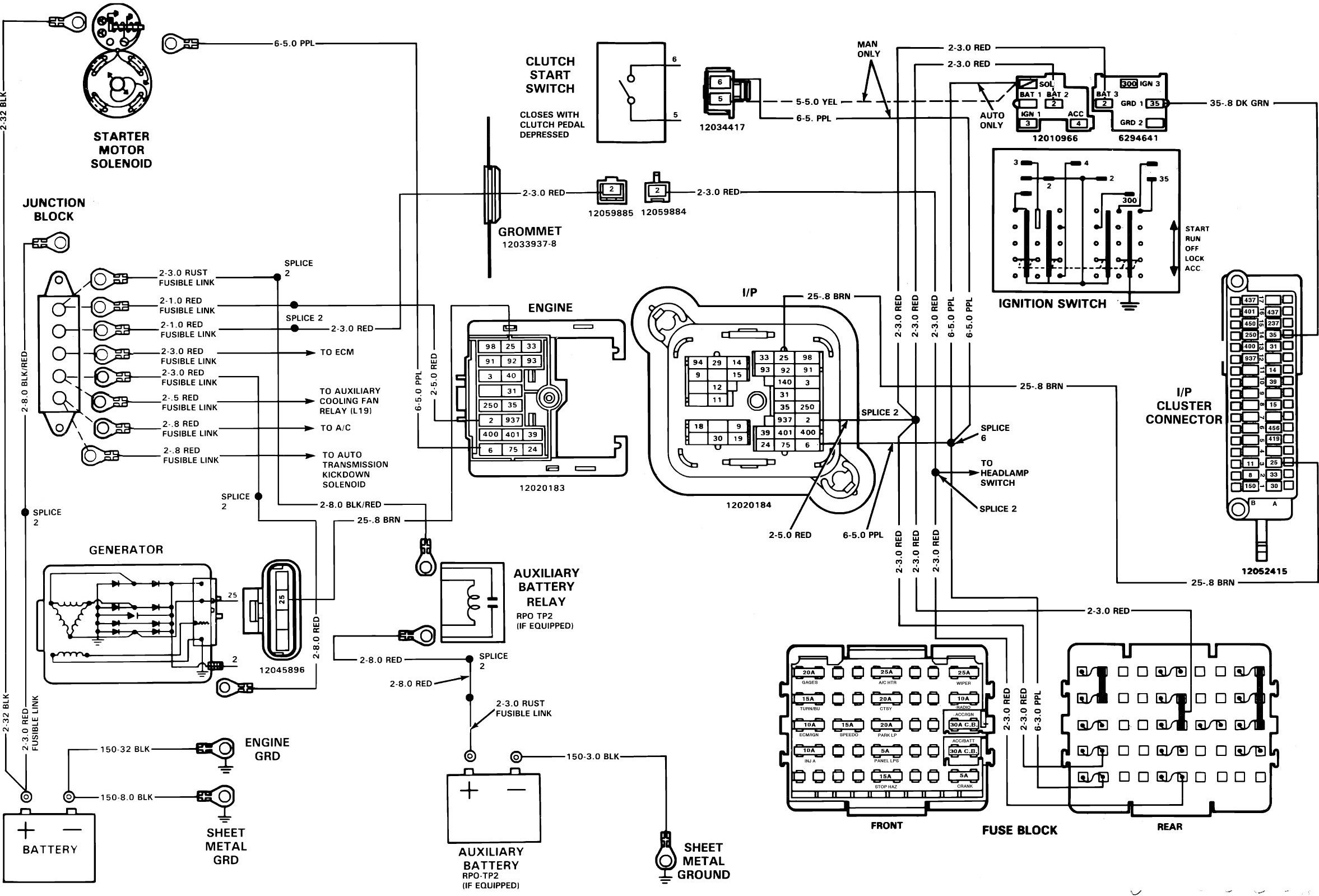 Engine Wiring Diagrams Diagram Sterling Truck 2003 Stereo 1989 Chevrolet C1500 Chevy 1500 Of
