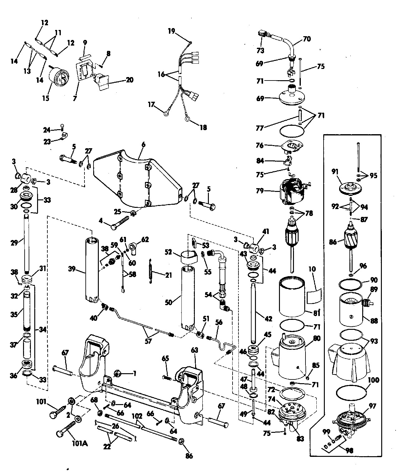 Evinrude Outboard Parts Diagram Power Tilt and Trim 50 Hp Electrical 1974 Accessories for 1974 Of Evinrude Outboard Parts Diagram