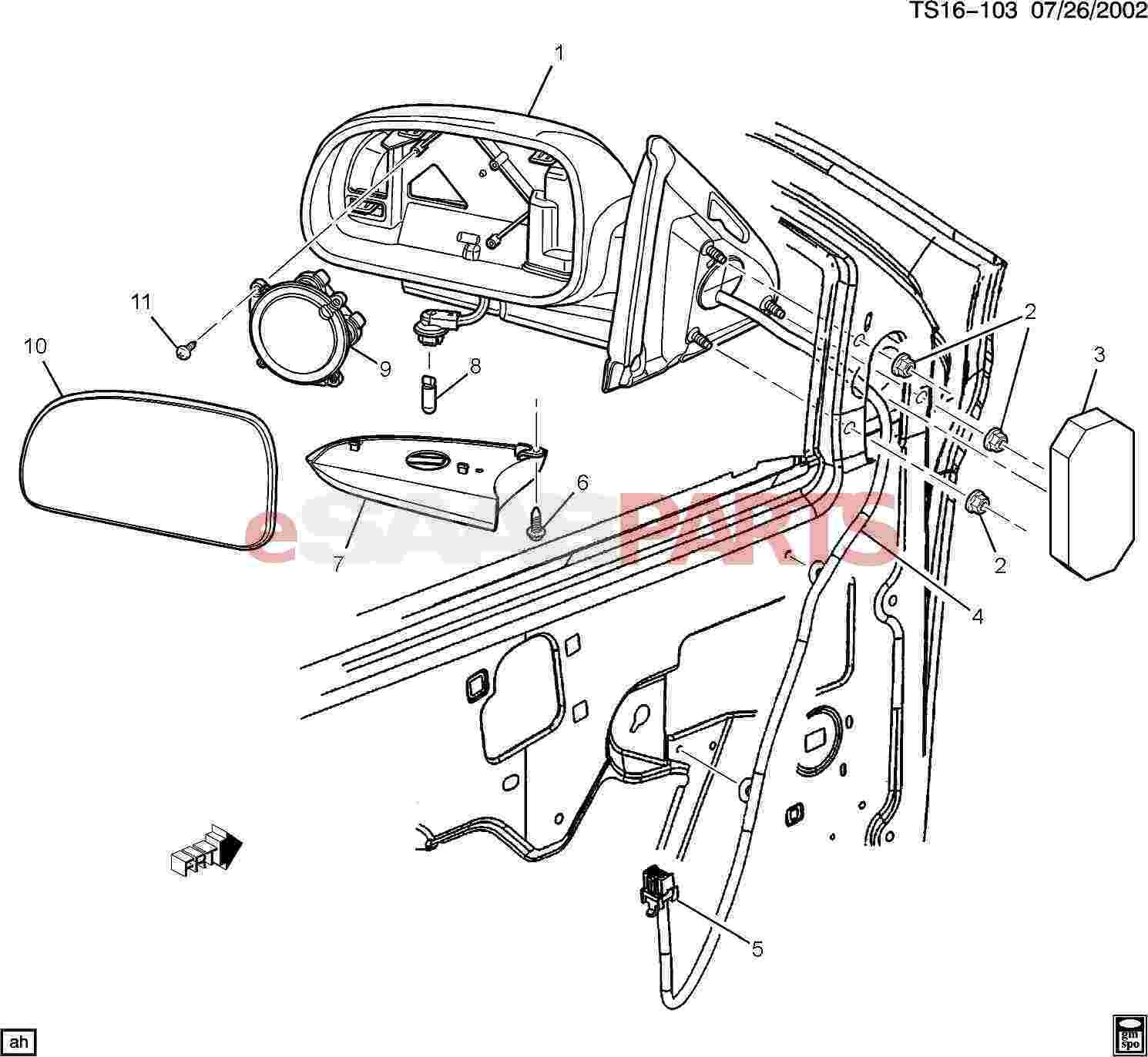 Exterior Car Parts Diagram Esaabparts Saab 9 7x Car Body External Parts Mirrors Of Exterior Car Parts Diagram