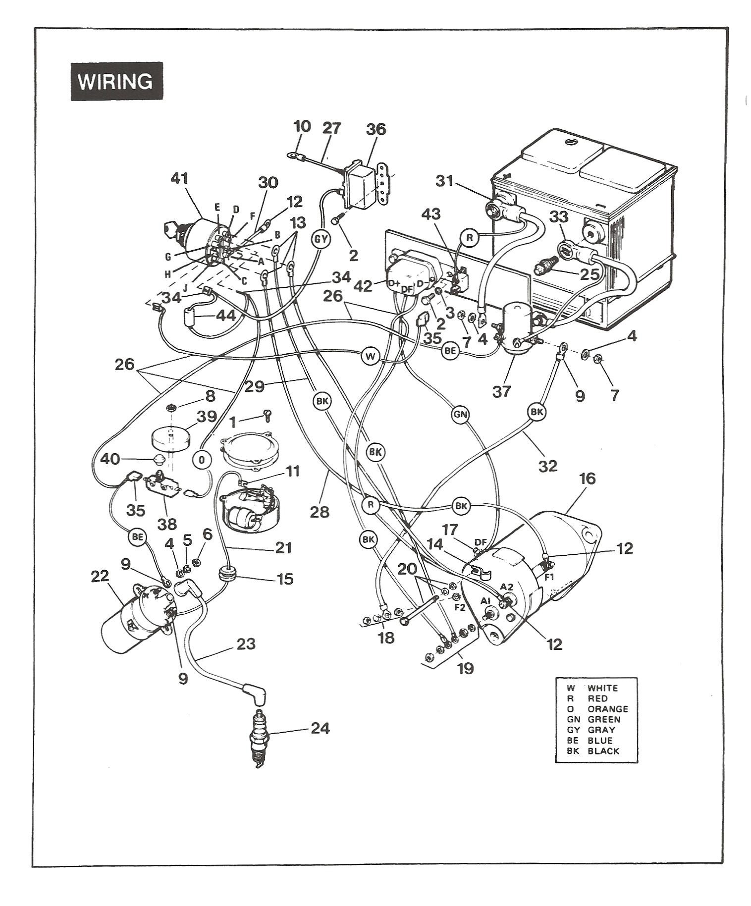 790be3e 1984 ez go golf cart wiring diagram | wiring library  wiring library