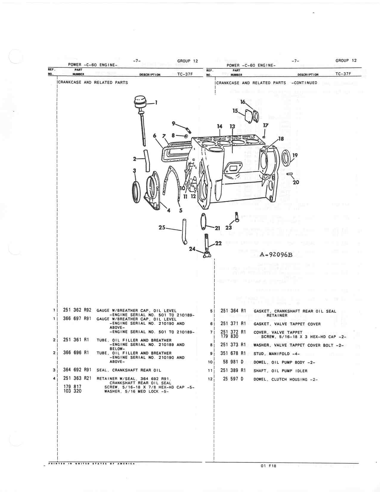 Farmall Cub Parts Diagram