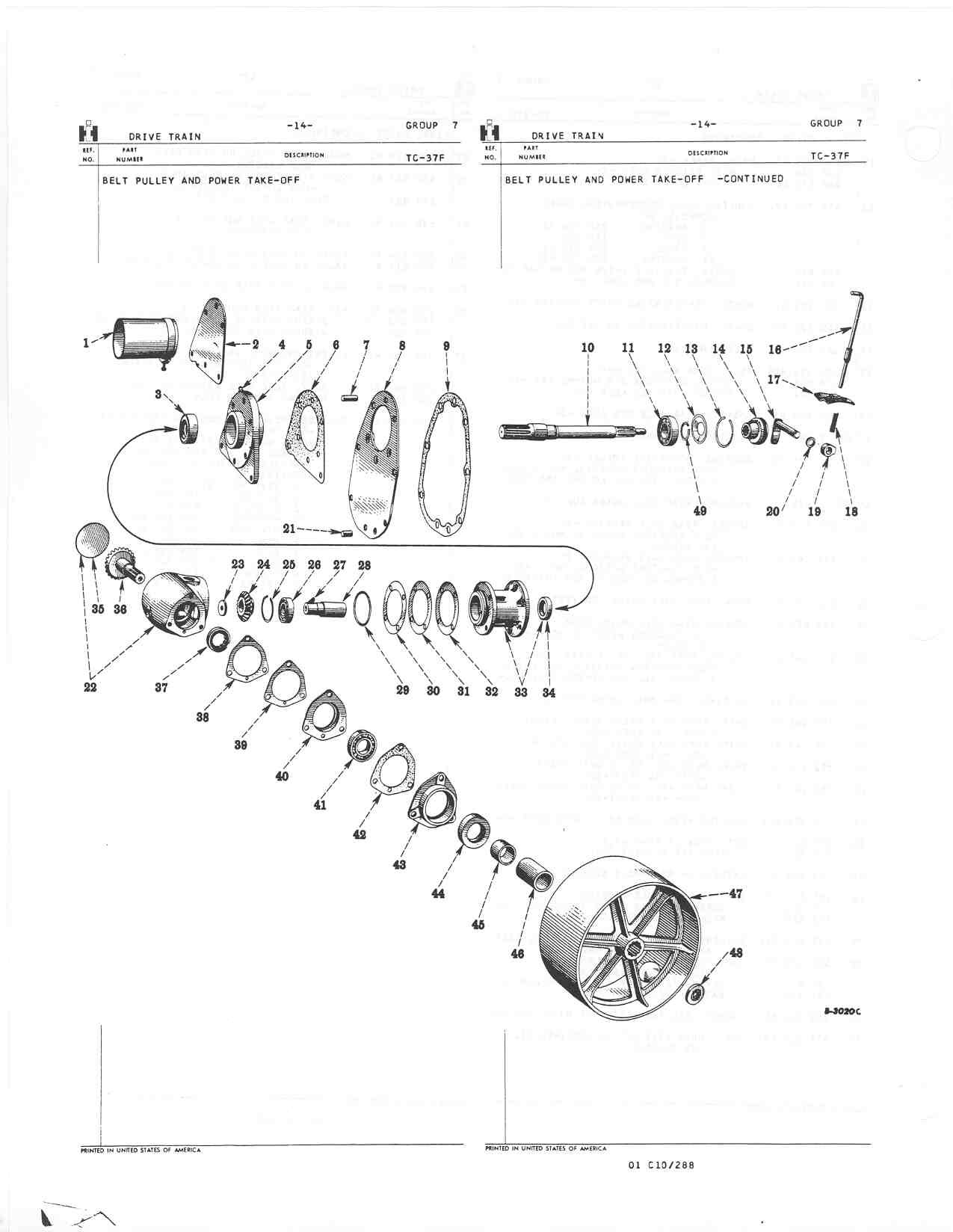 farmall cub parts diagram pto lever does not engage