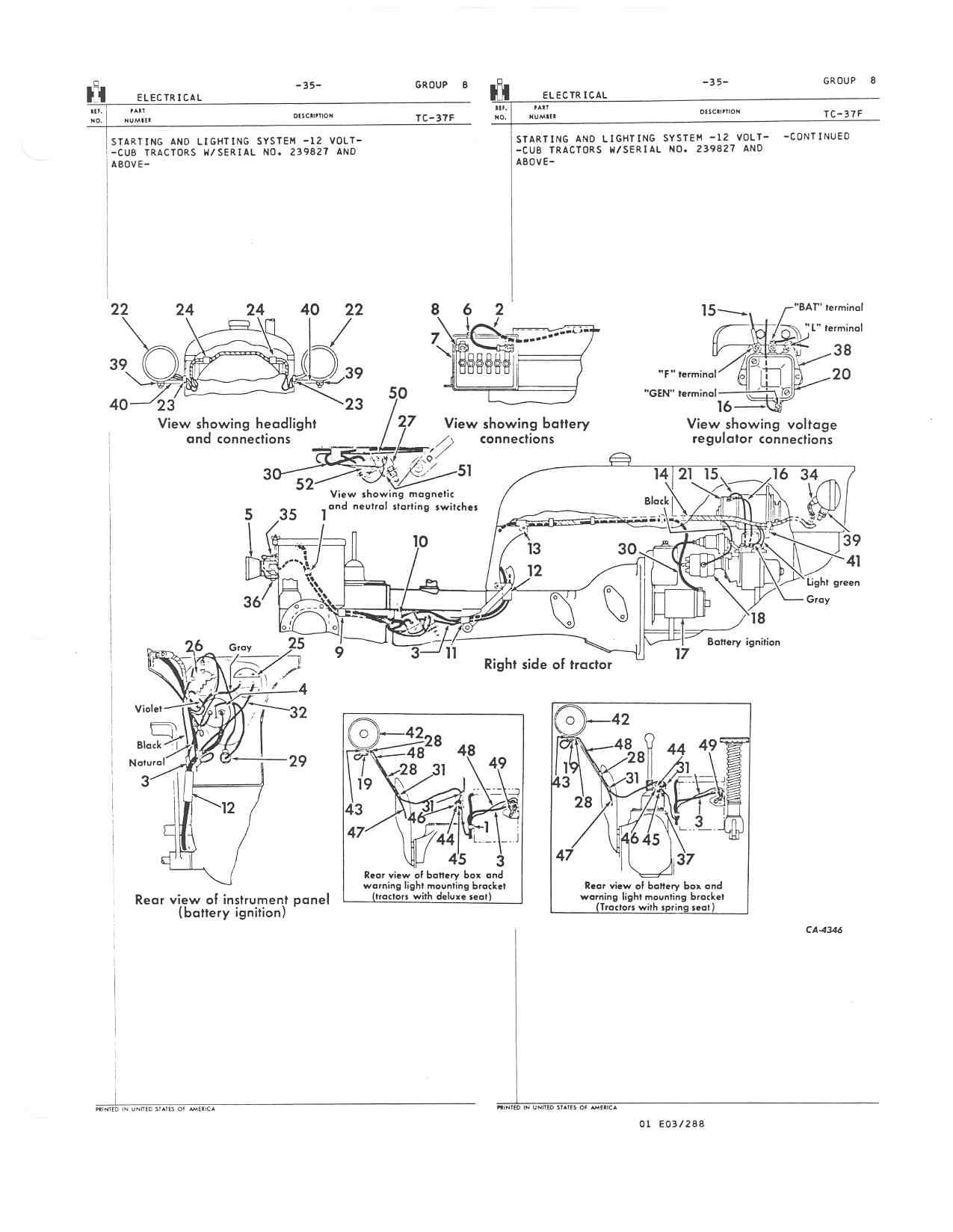 Farmall Cub 6 Volt Wiring Diagram Golden Schematic Ford 8n Further 1948 Plymouth Parts Pto Lever Does Not Engage My Trusted