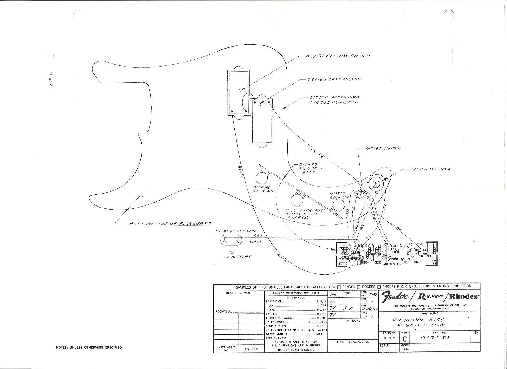 Fender Precision Bass Wiring Diagram | My Wiring DIagram