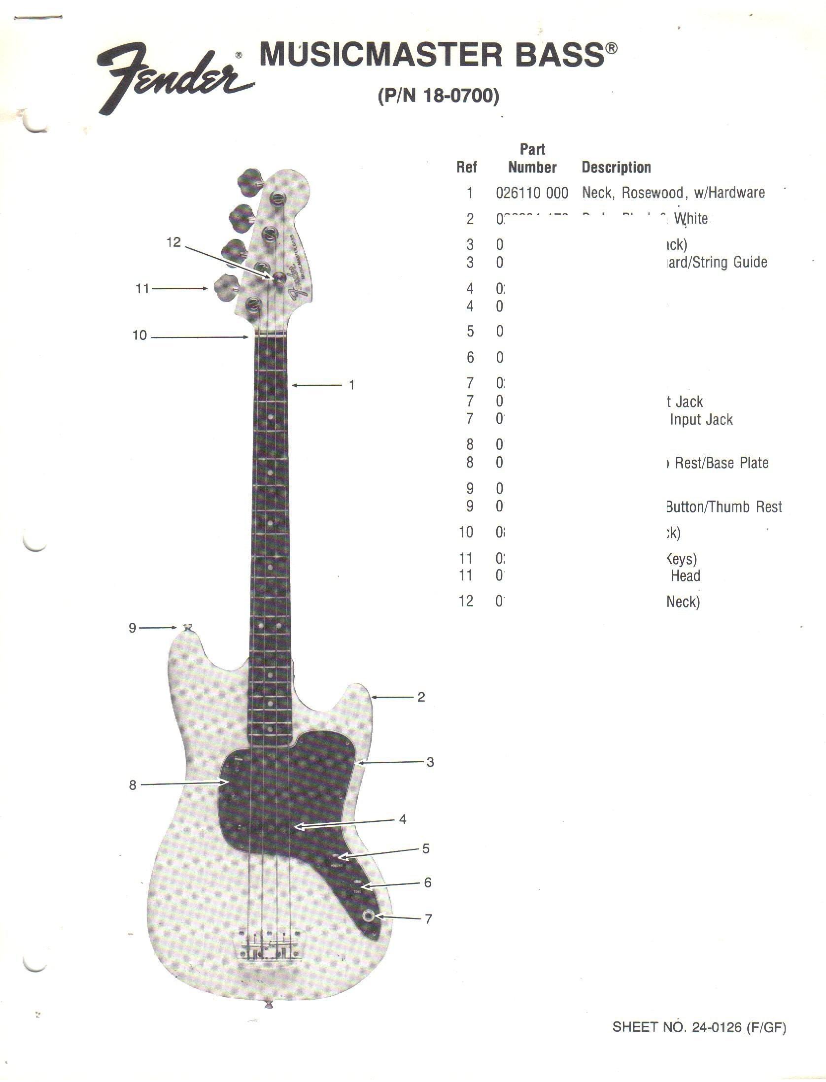 Fender Precision Bass Wiring Diagram   My Wiring DIagram