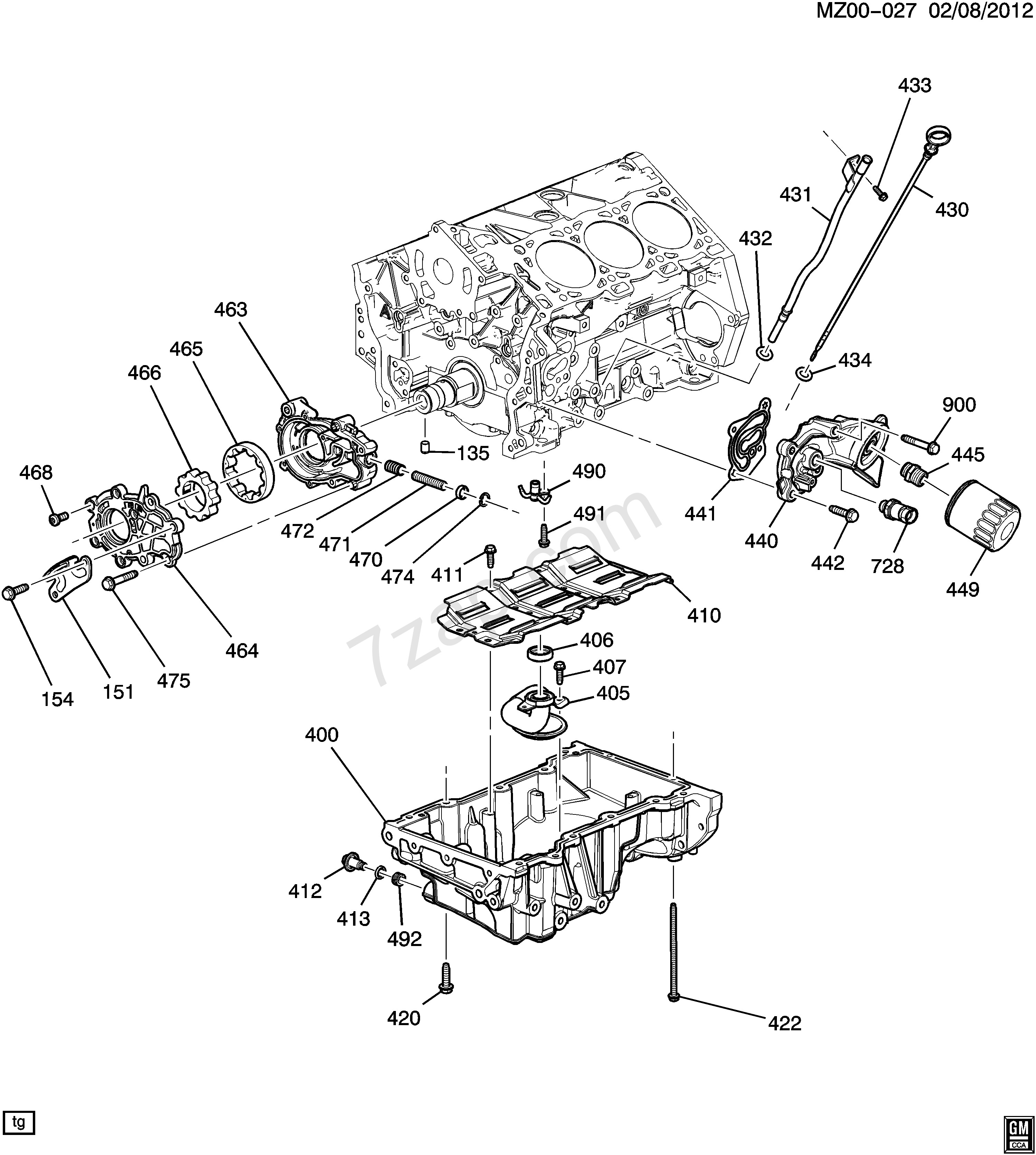 Flat Head Engine Diagram 2009 2010 Rv1 Engine asm 3 6l V6 Part 5 Oil Pump Oil Pan & Related Of Flat Head Engine Diagram