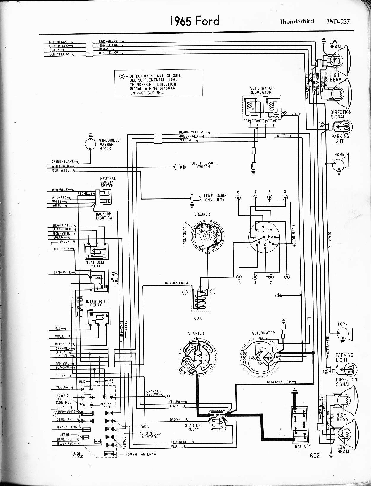 1965 ford t bird wiring diagram schematic rh yomelaniejo co 1963 Thunderbird 1968 thunderbird wiring diagram