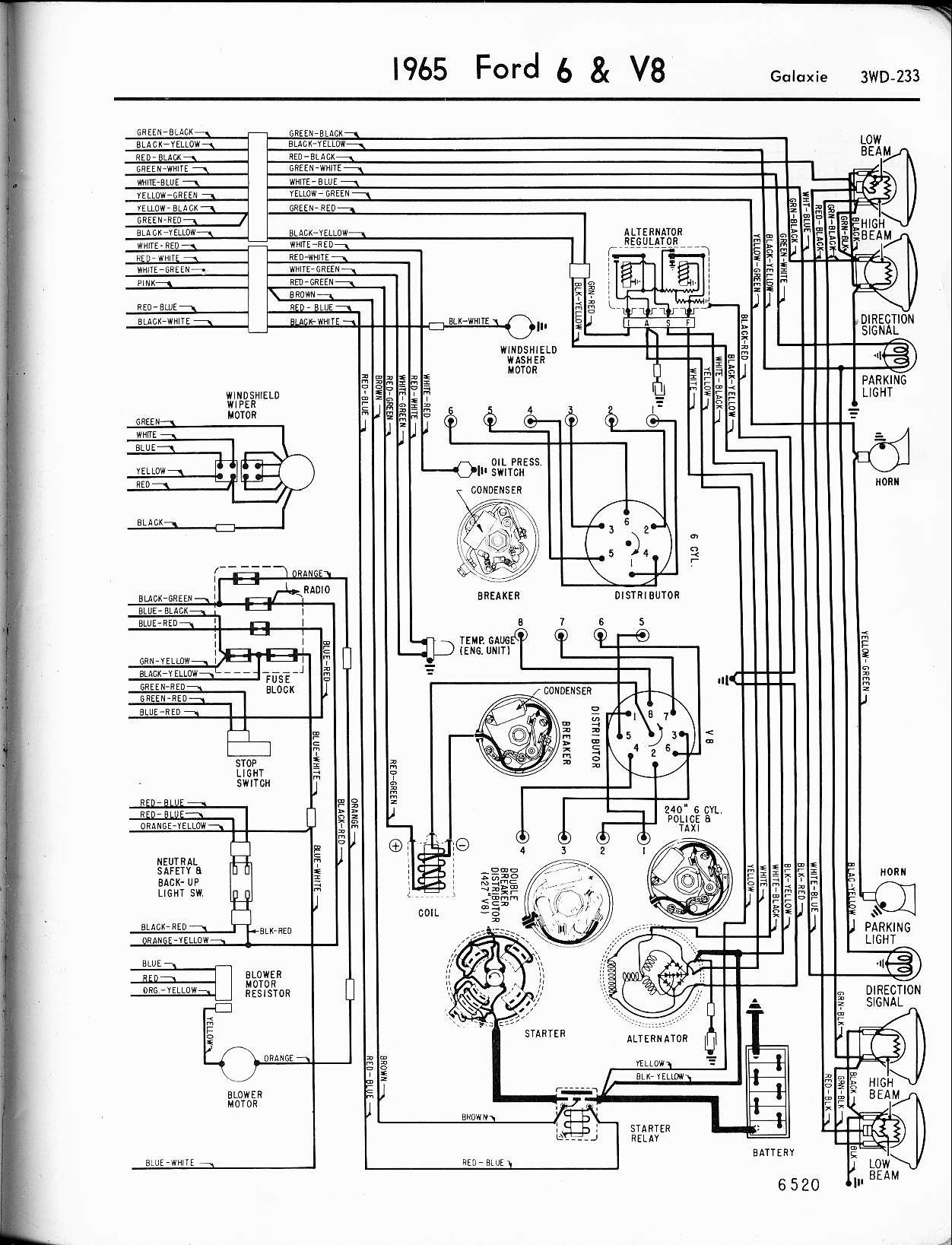 ford 4 6 v8 engine diagram 1965 ford galaxie wiring
